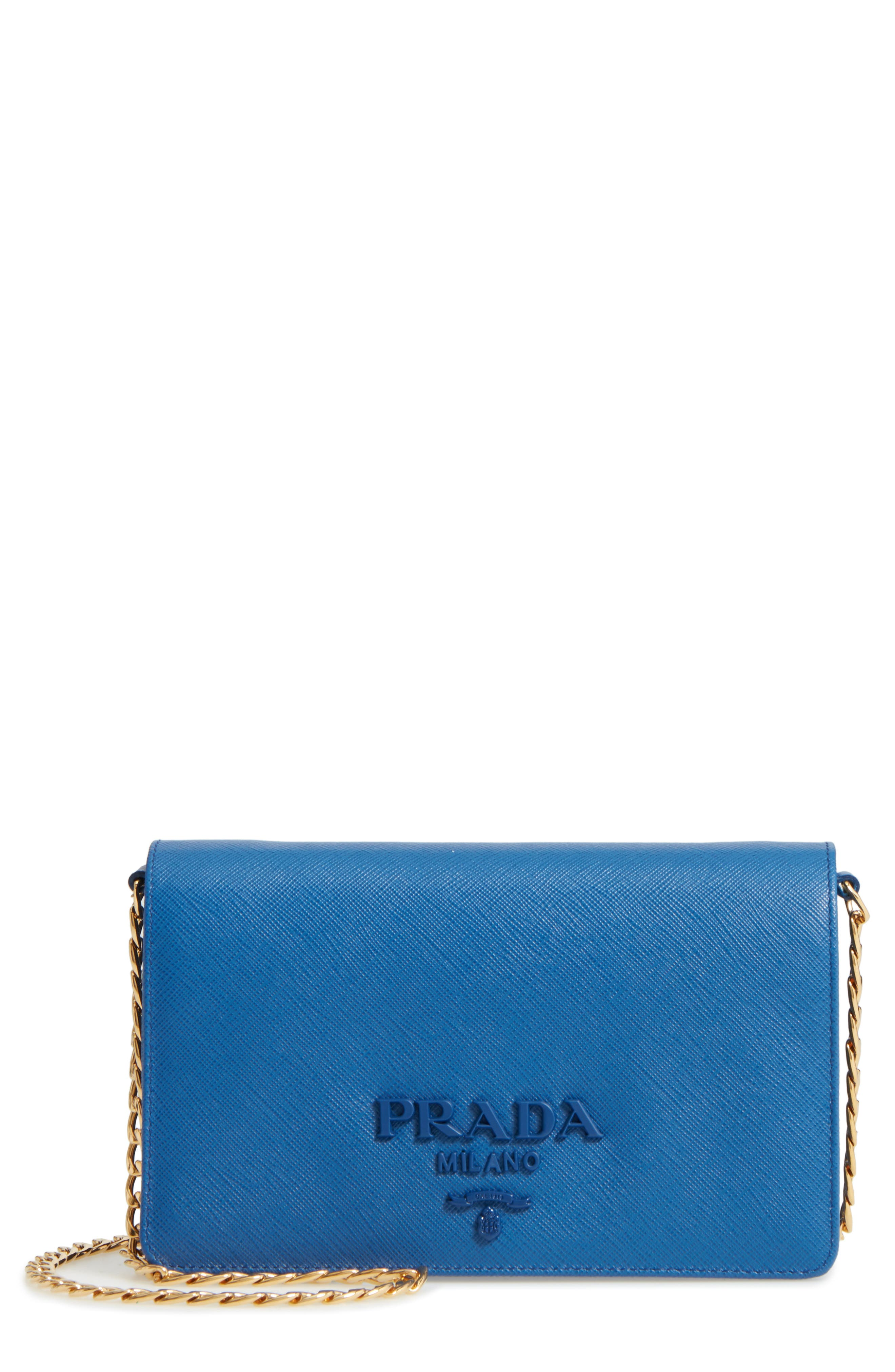 Prada Monochromatic Logo Crossbody Bag