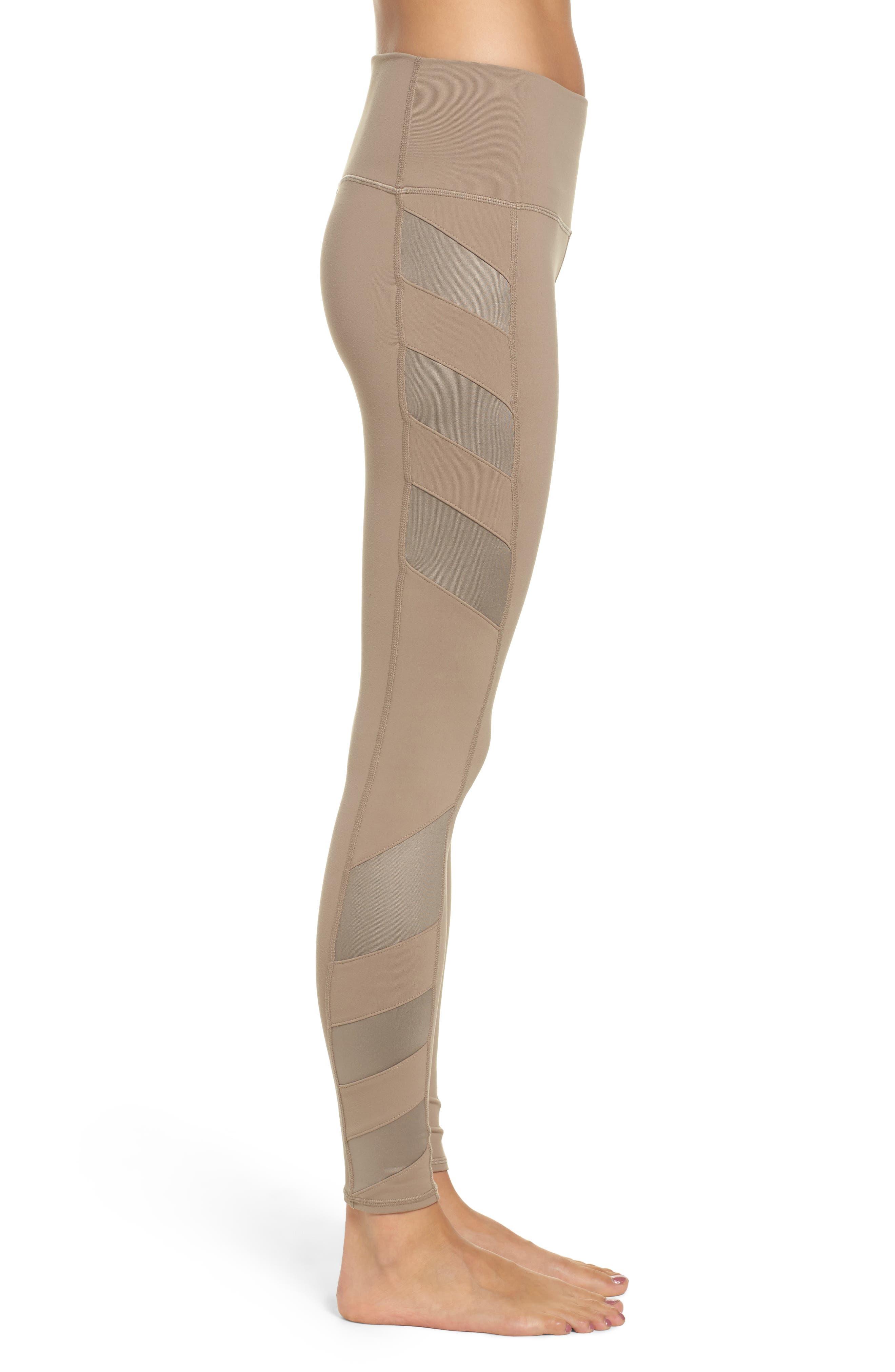 Alternate Image 3  - Alo Block High Waist Mesh Inset Leggings