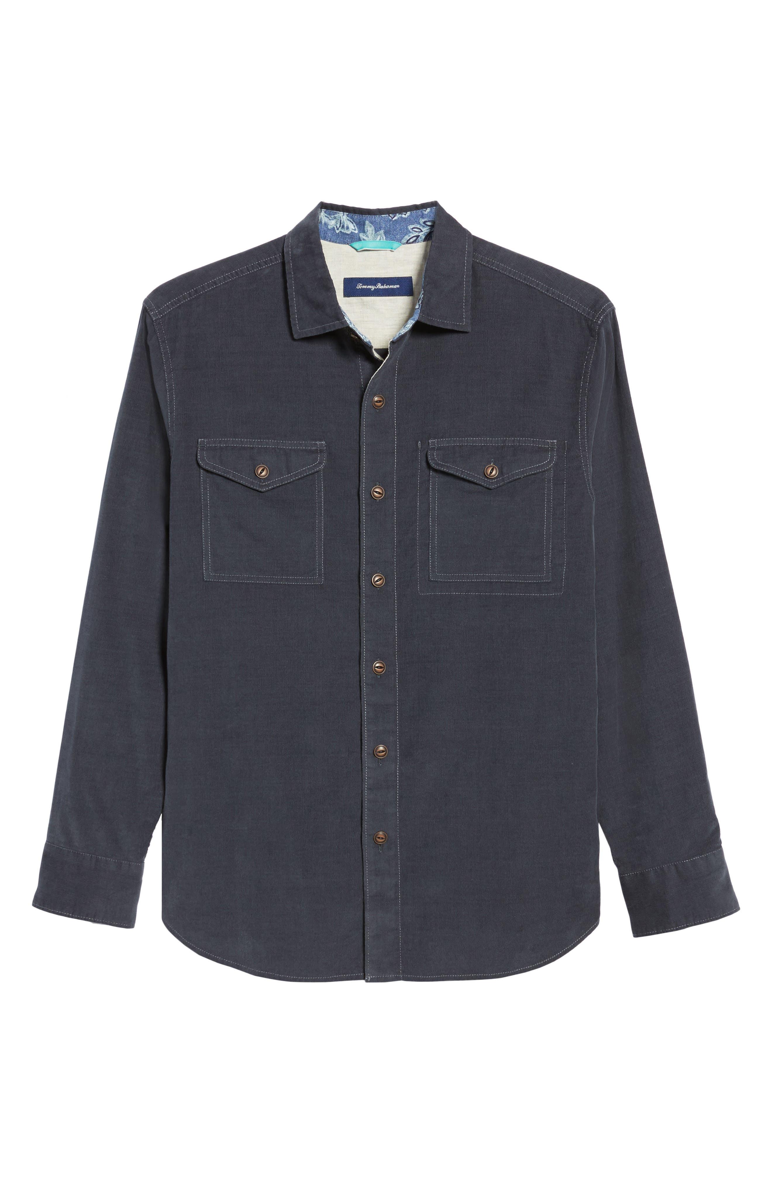 Alternate Image 6  - Tommy Bahama Harrison Cord Standard Fit Shirt
