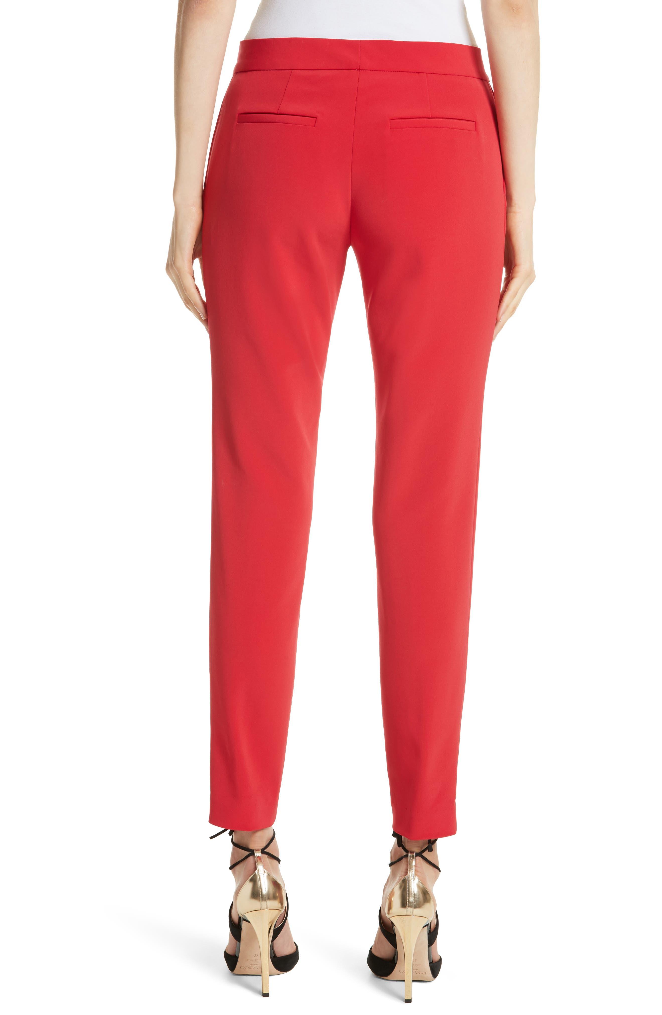 Crop Bi-Stretch Pants,                             Alternate thumbnail 2, color,                             Red