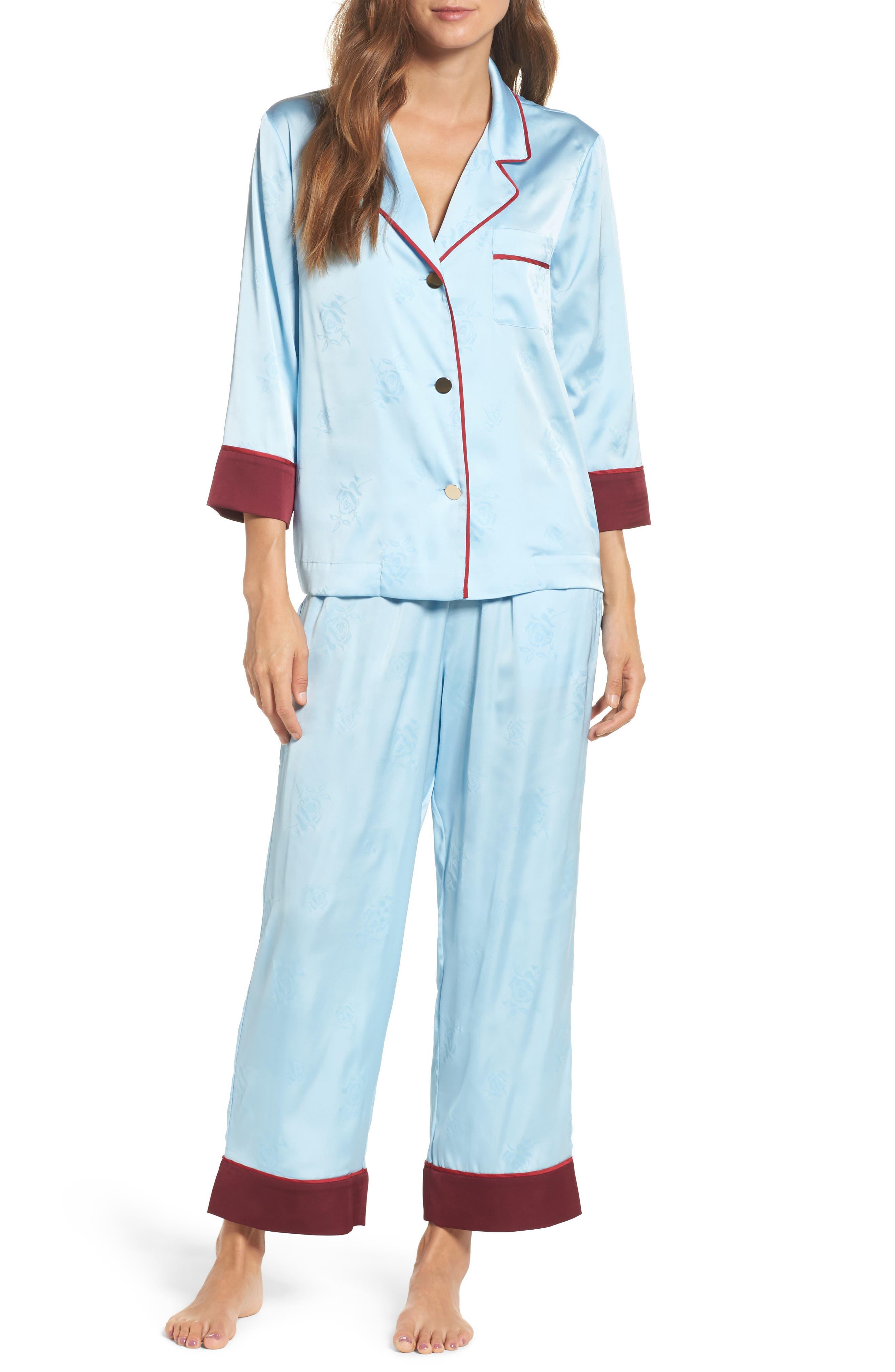 Alternate Image 1 Selected - Bed to Brunch Crop Pajamas