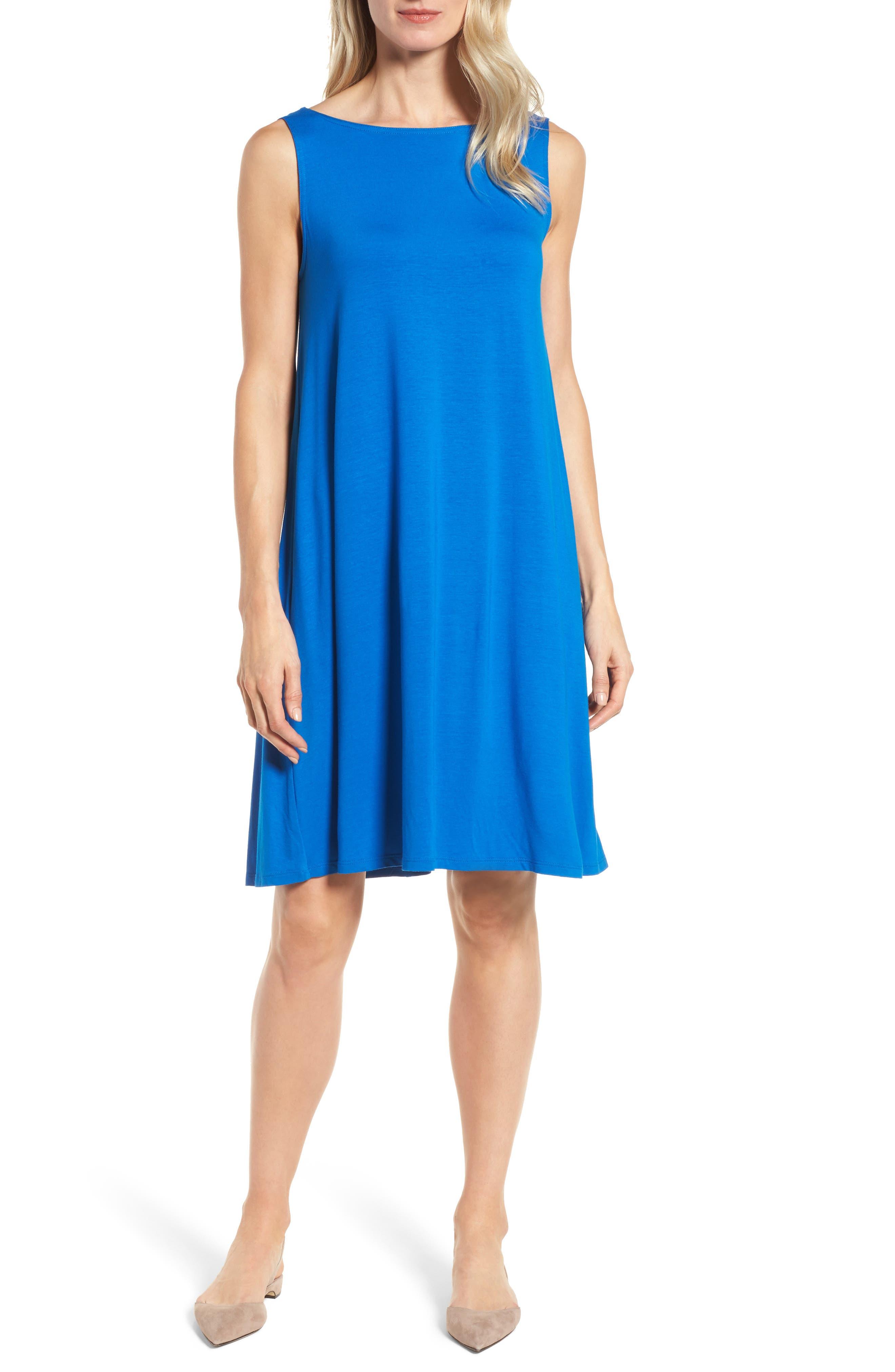 Jersey Shift Dress,                         Main,                         color, Catalina