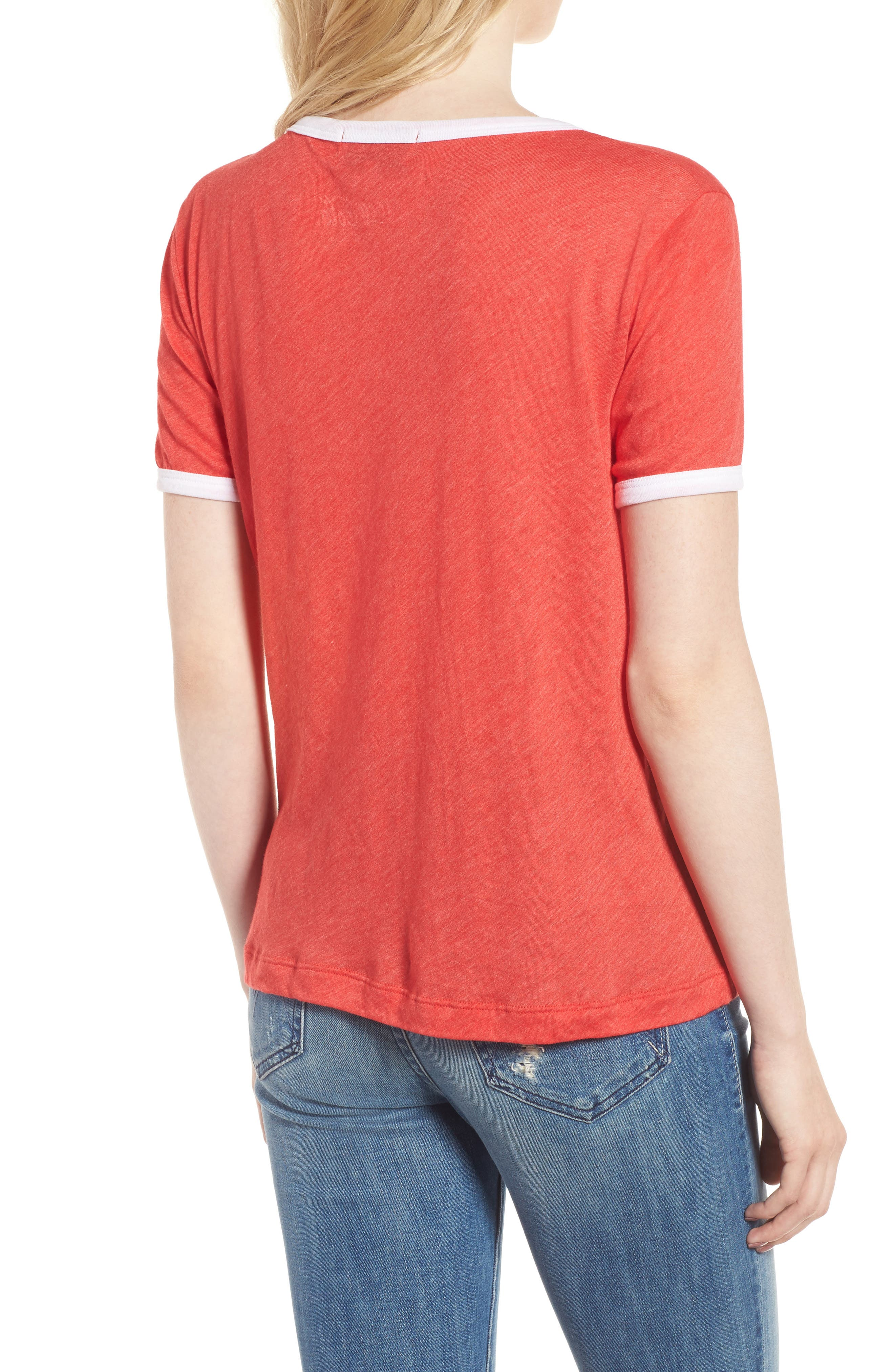 Coca Cola<sup>®</sup> Ringer Tee,                             Alternate thumbnail 2, color,                             Red Line