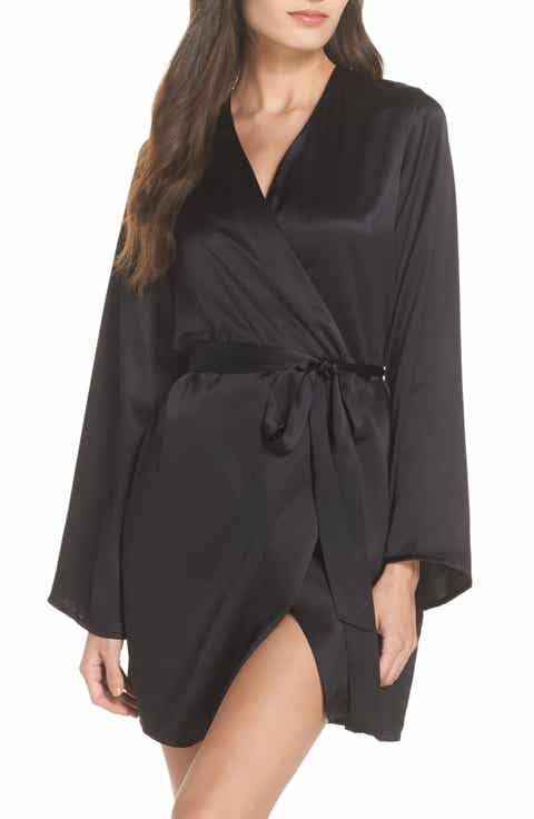 Morgan Lane Langley Silk Charmeuse Short Robe