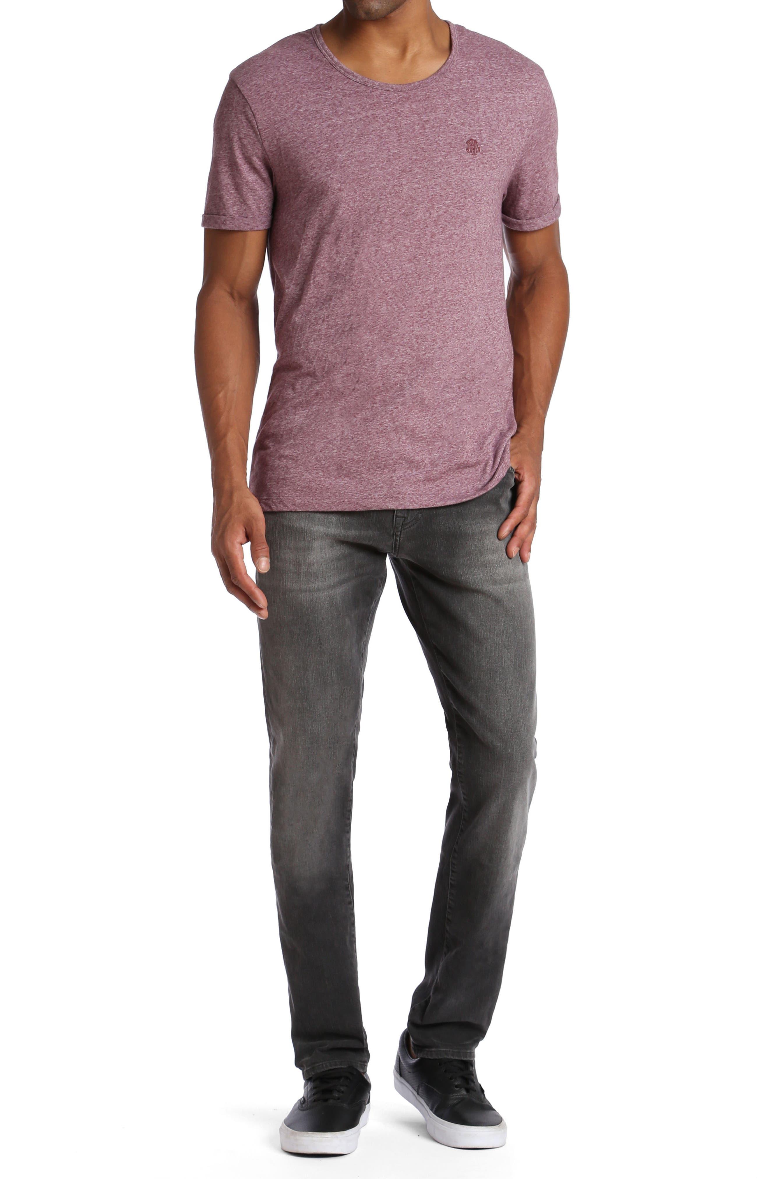 Alternate Image 4  - Mavi Jeans Jake Slim Fit Jeans (Grey Distressed Williamsburg)
