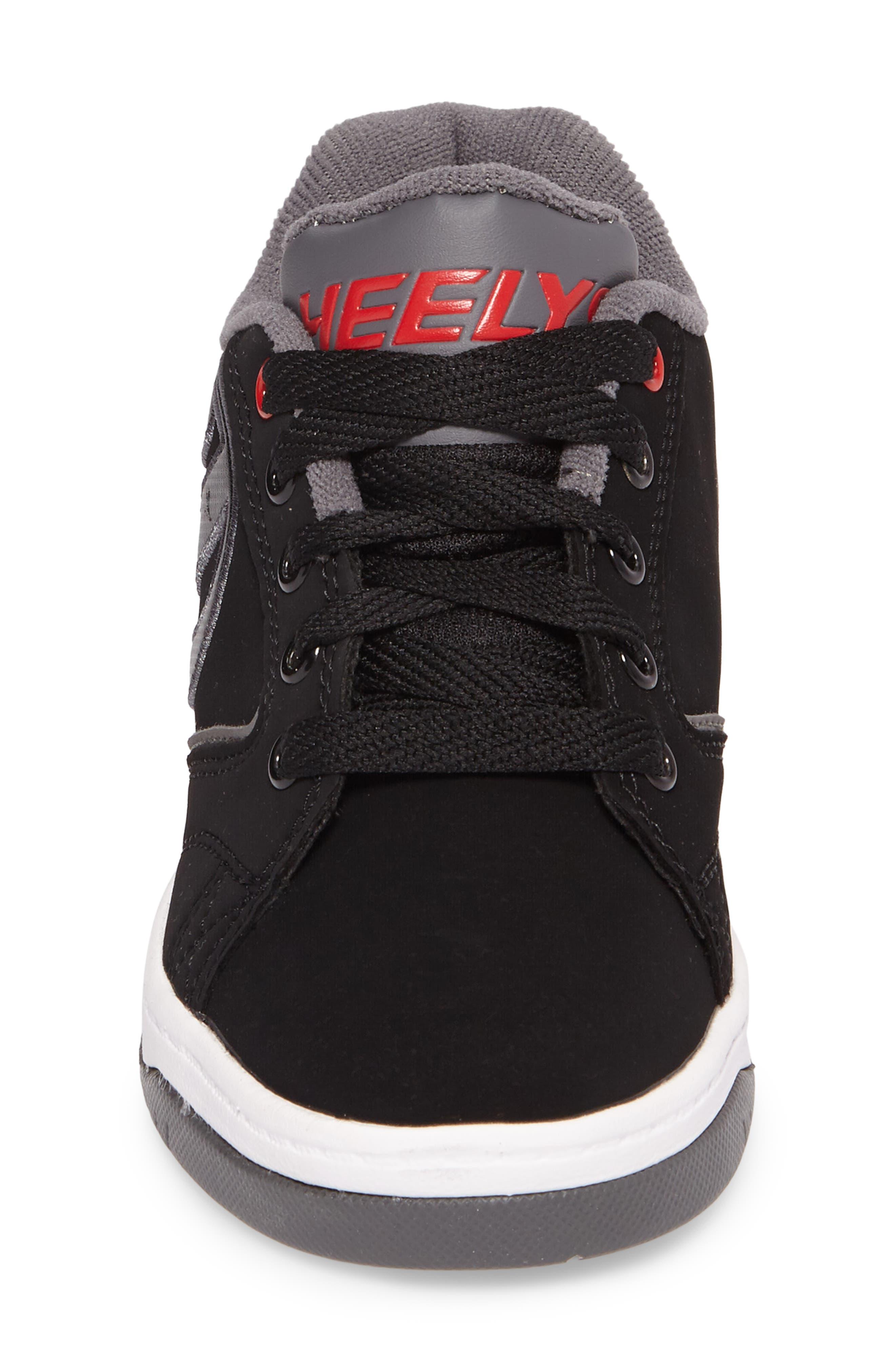 Heeleys'Propel 2.0' Sneaker,                             Alternate thumbnail 4, color,                             Black/ Red/ Grey