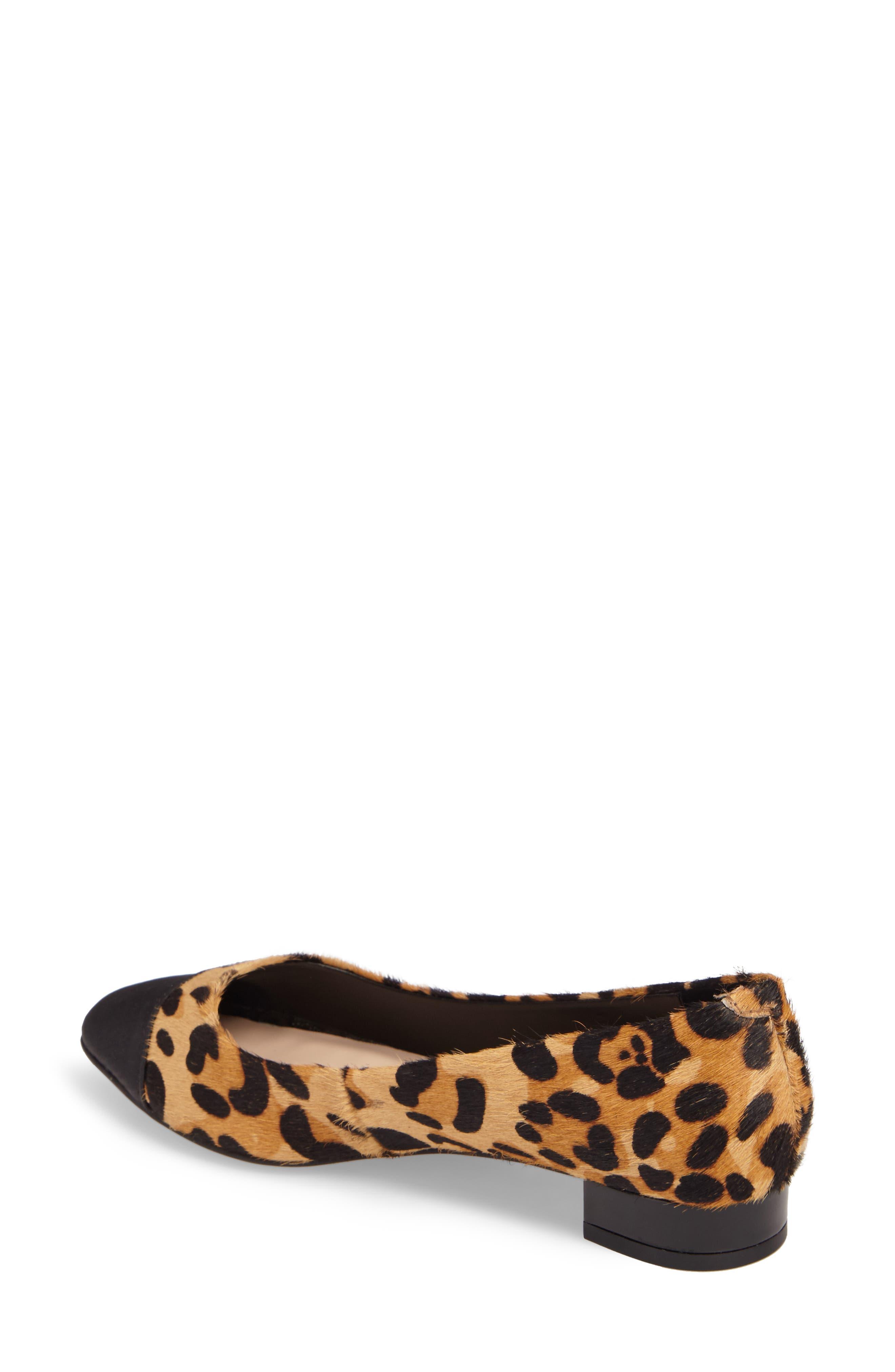 Brea Flat,                             Alternate thumbnail 2, color,                             Leopard Calf Hair