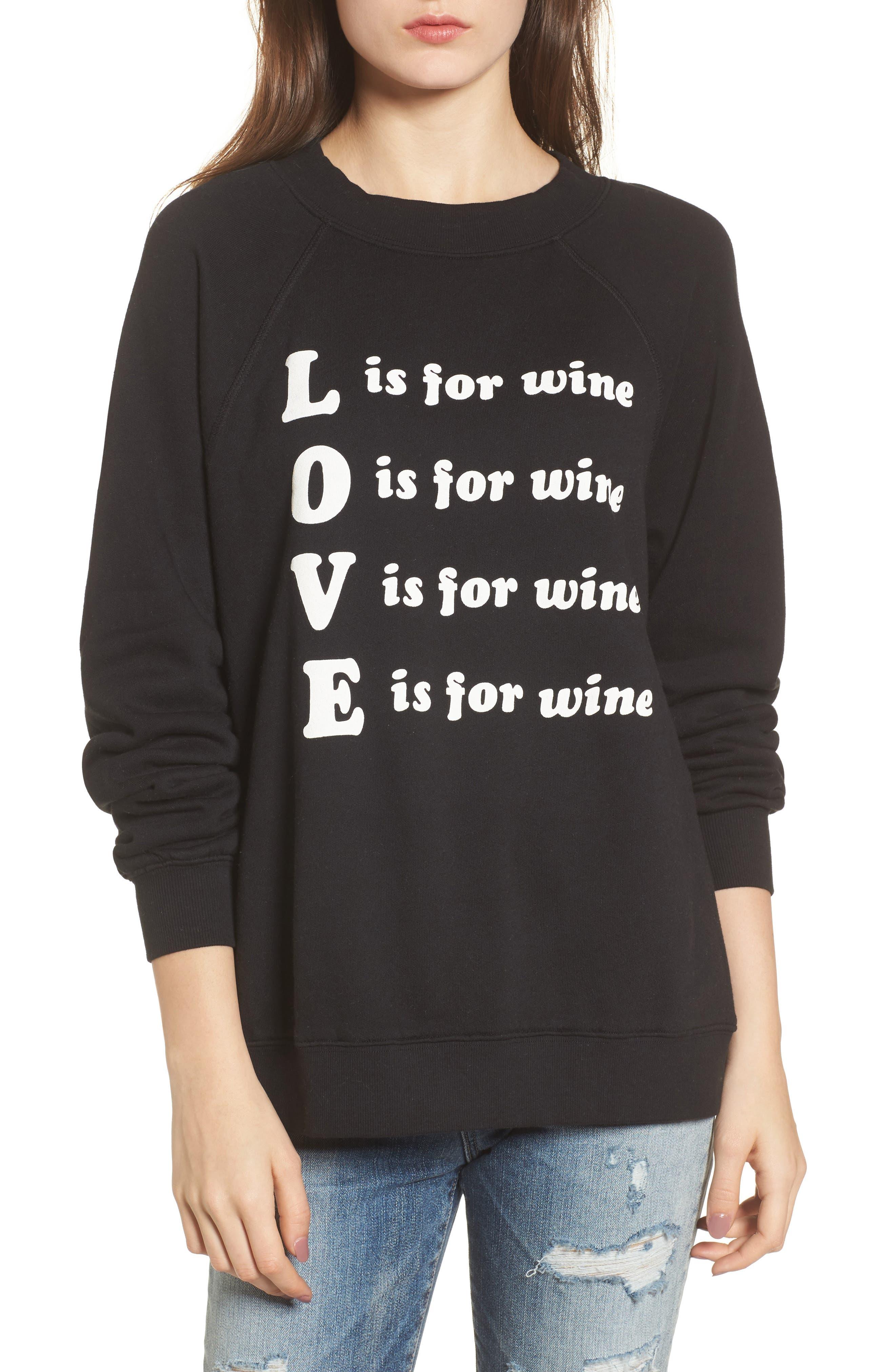 Wino - Sommers Sweatshirt,                             Main thumbnail 1, color,                             Black
