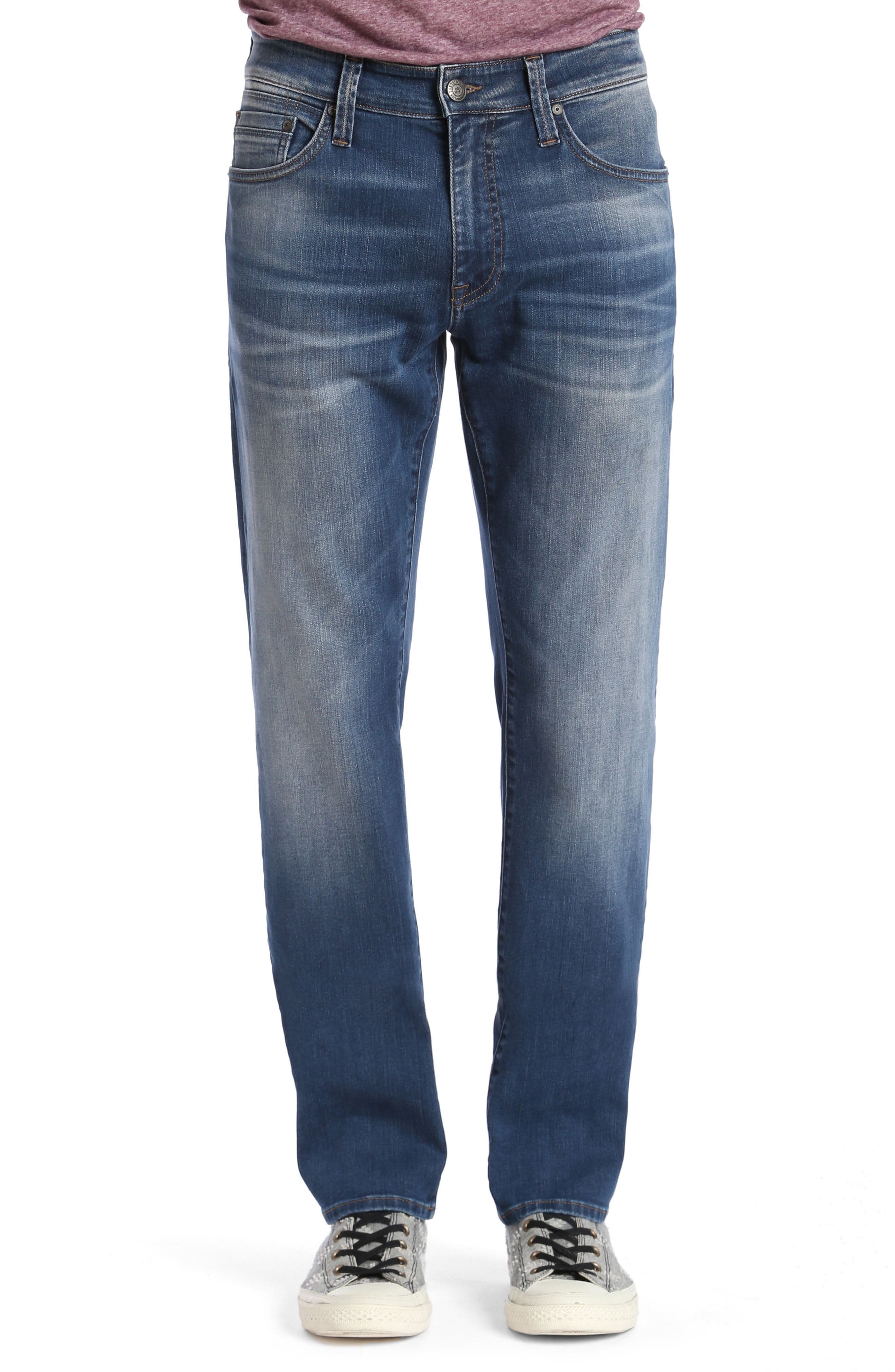 Main Image - Mavi Jeans Zach Straight Fit Jeans (Mid Shaded Williamsburg)