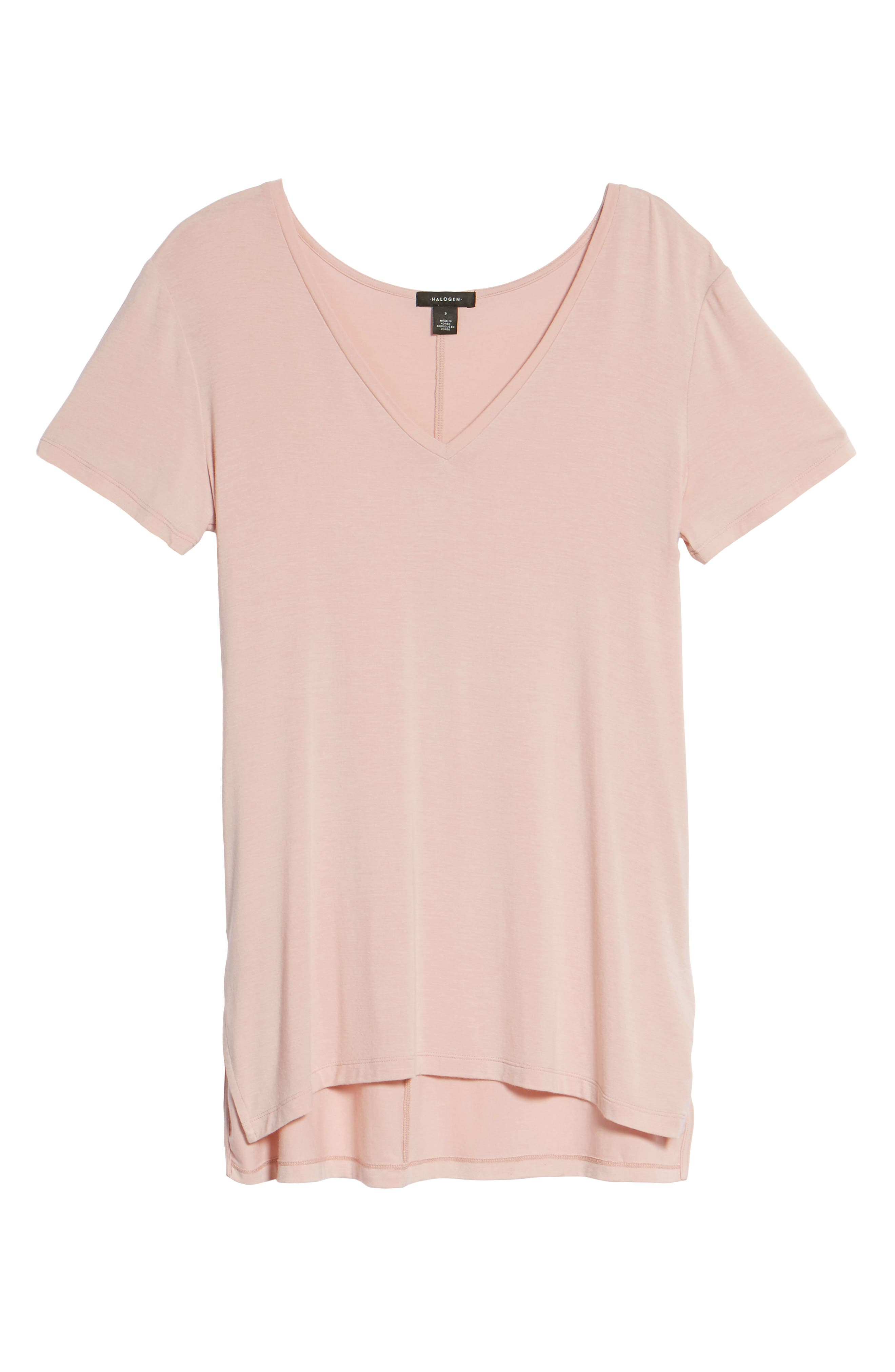 Alternate Image 6  - Halogen® V-Neck Tunic Tee (Regular & Petite)