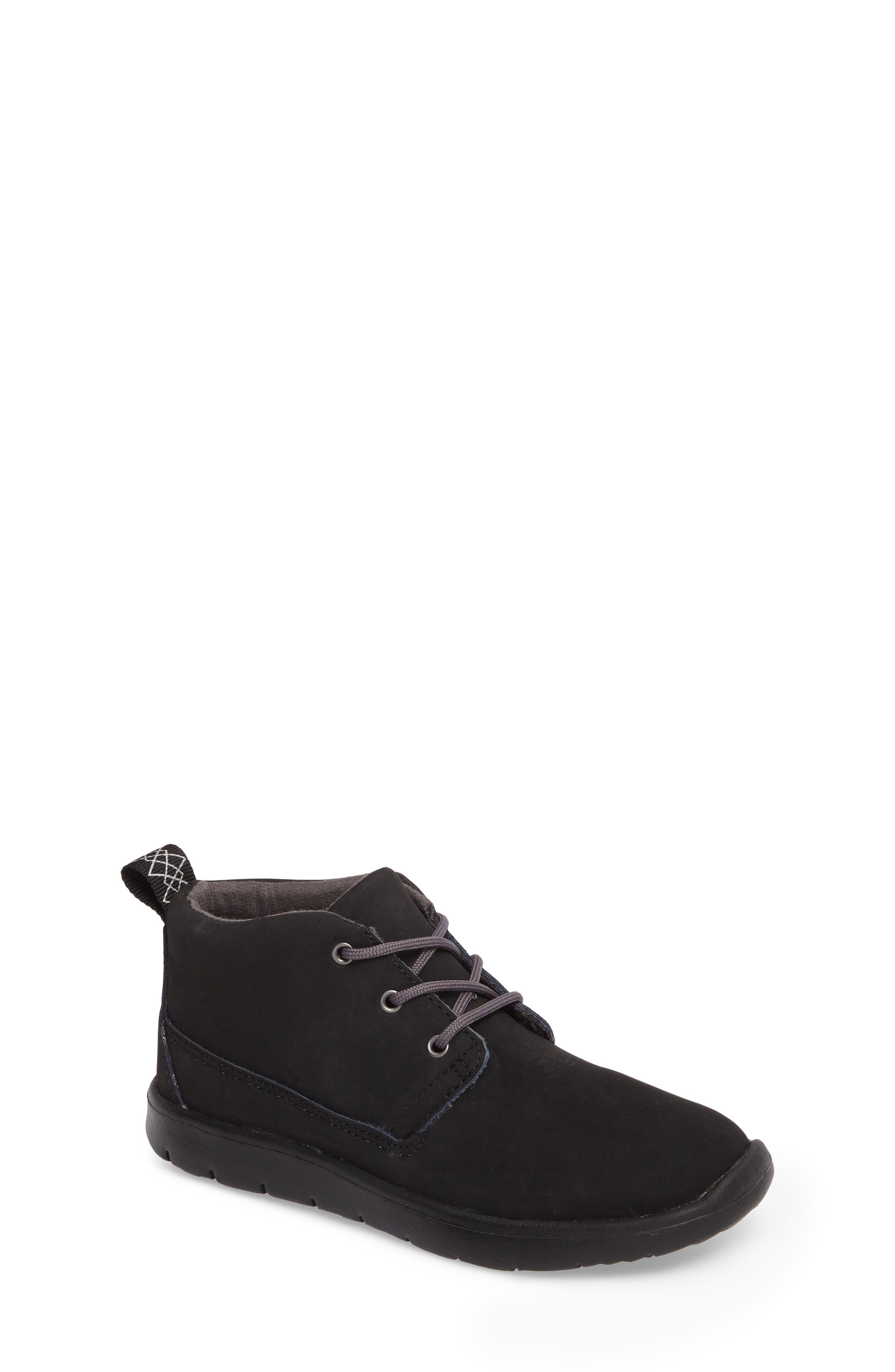Canoe Water Resistant Chukka Sneaker,                             Main thumbnail 1, color,                             Black