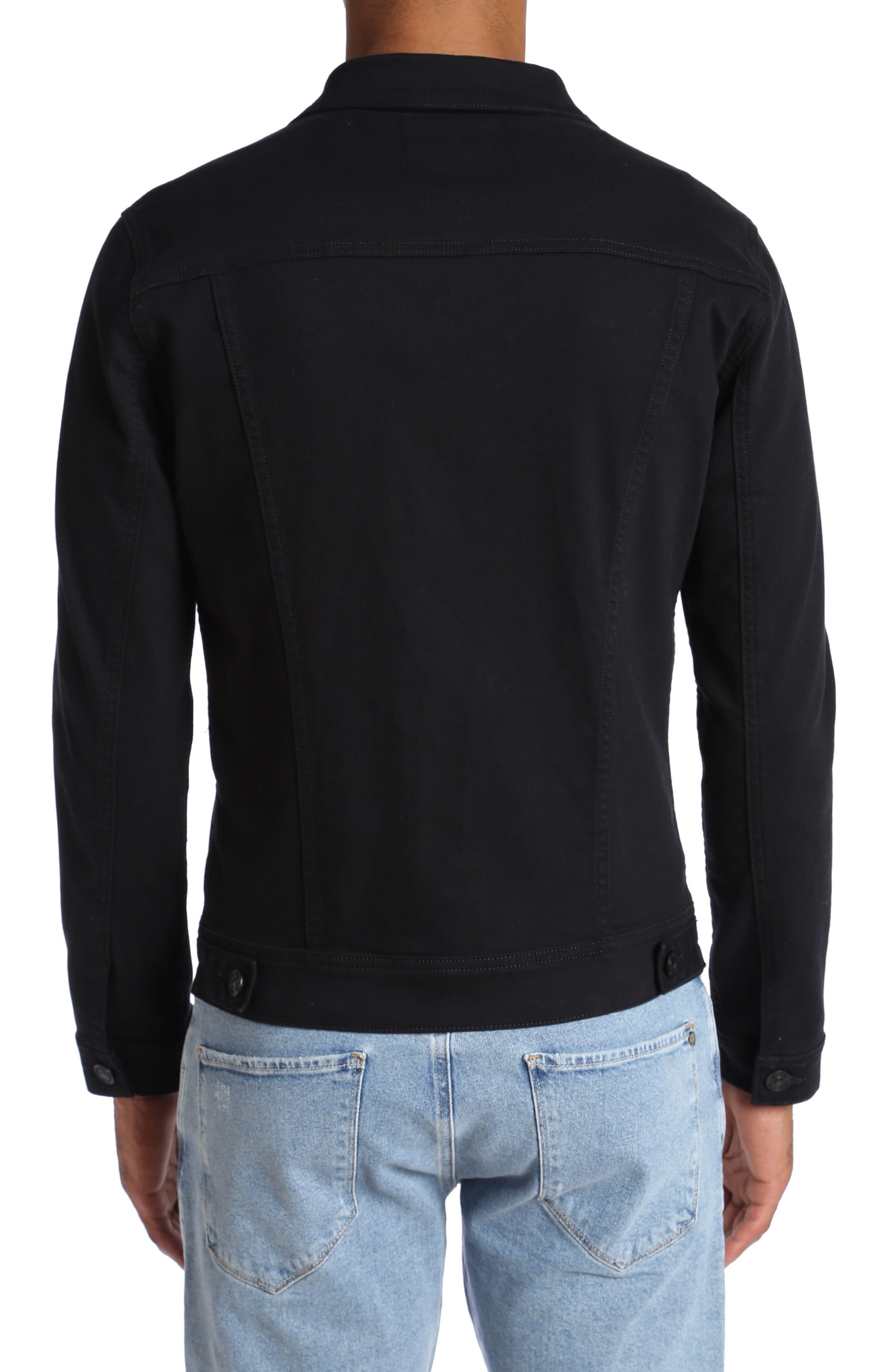 Frank Denim Jacket,                             Alternate thumbnail 2, color,                             Black Comfort