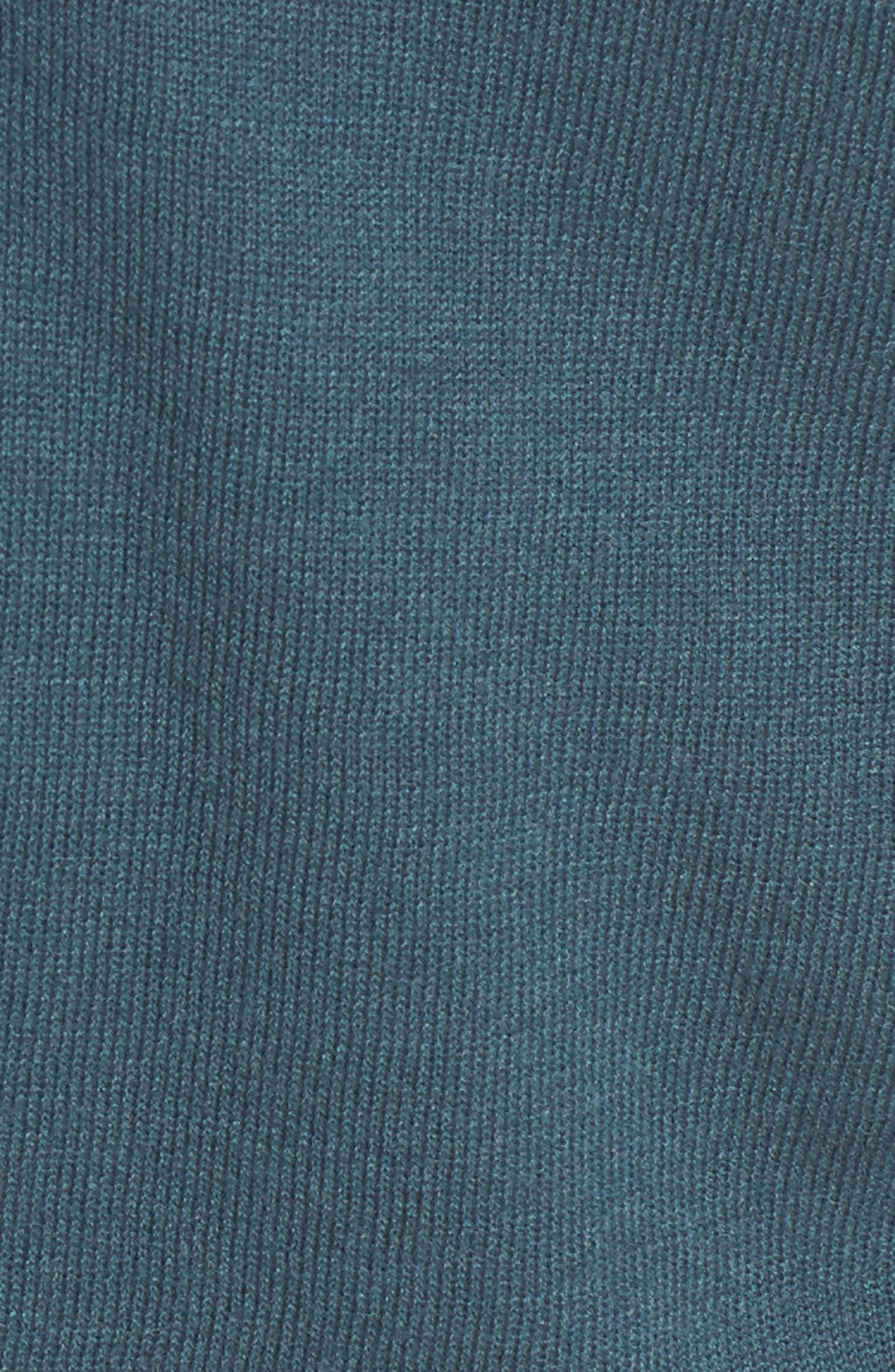 Ruched Sweater,                             Alternate thumbnail 5, color,                             Teal Gazer