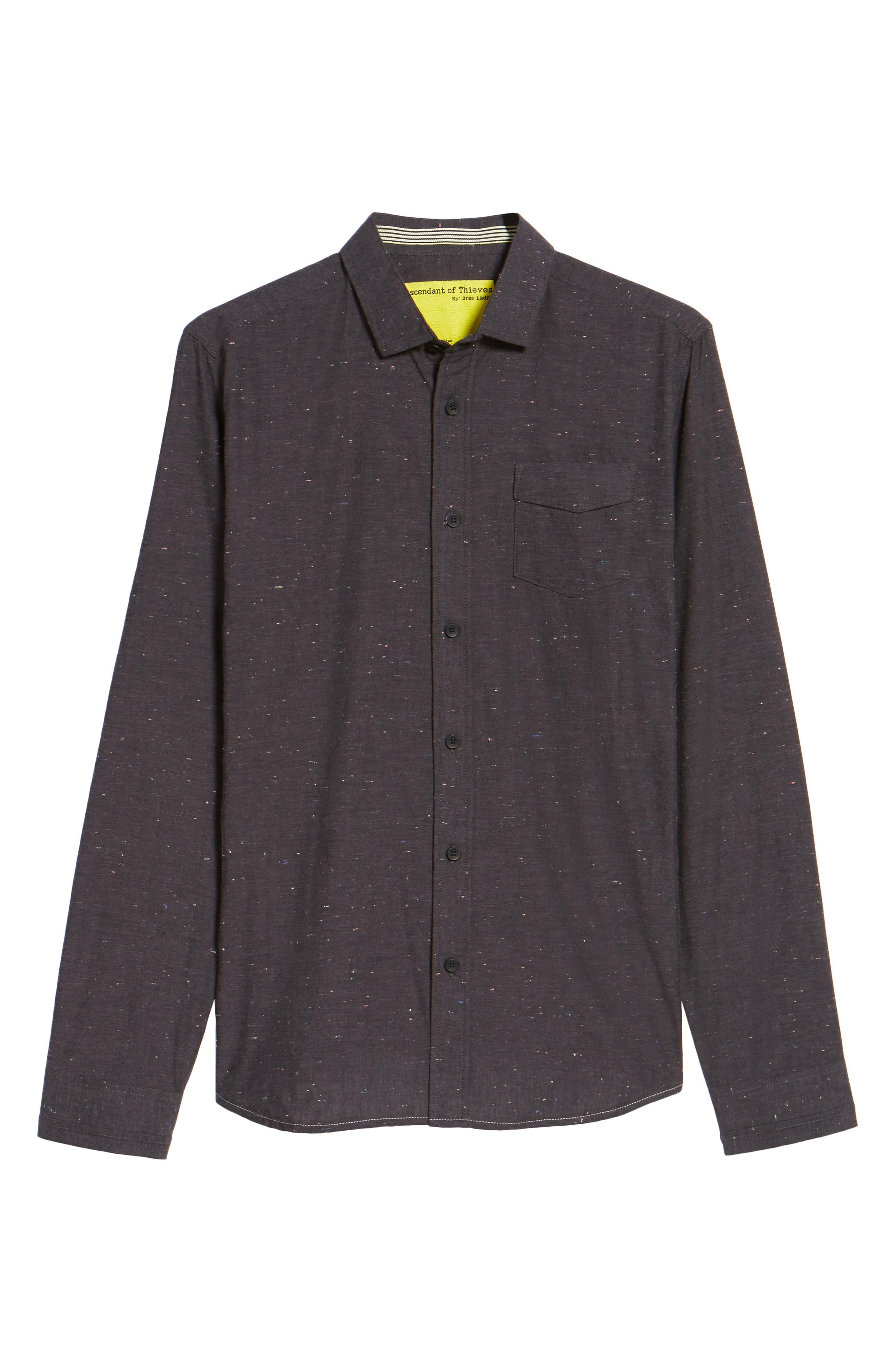 Base Speck Sport Shirt,                             Alternate thumbnail 5, color,                             Charcoal