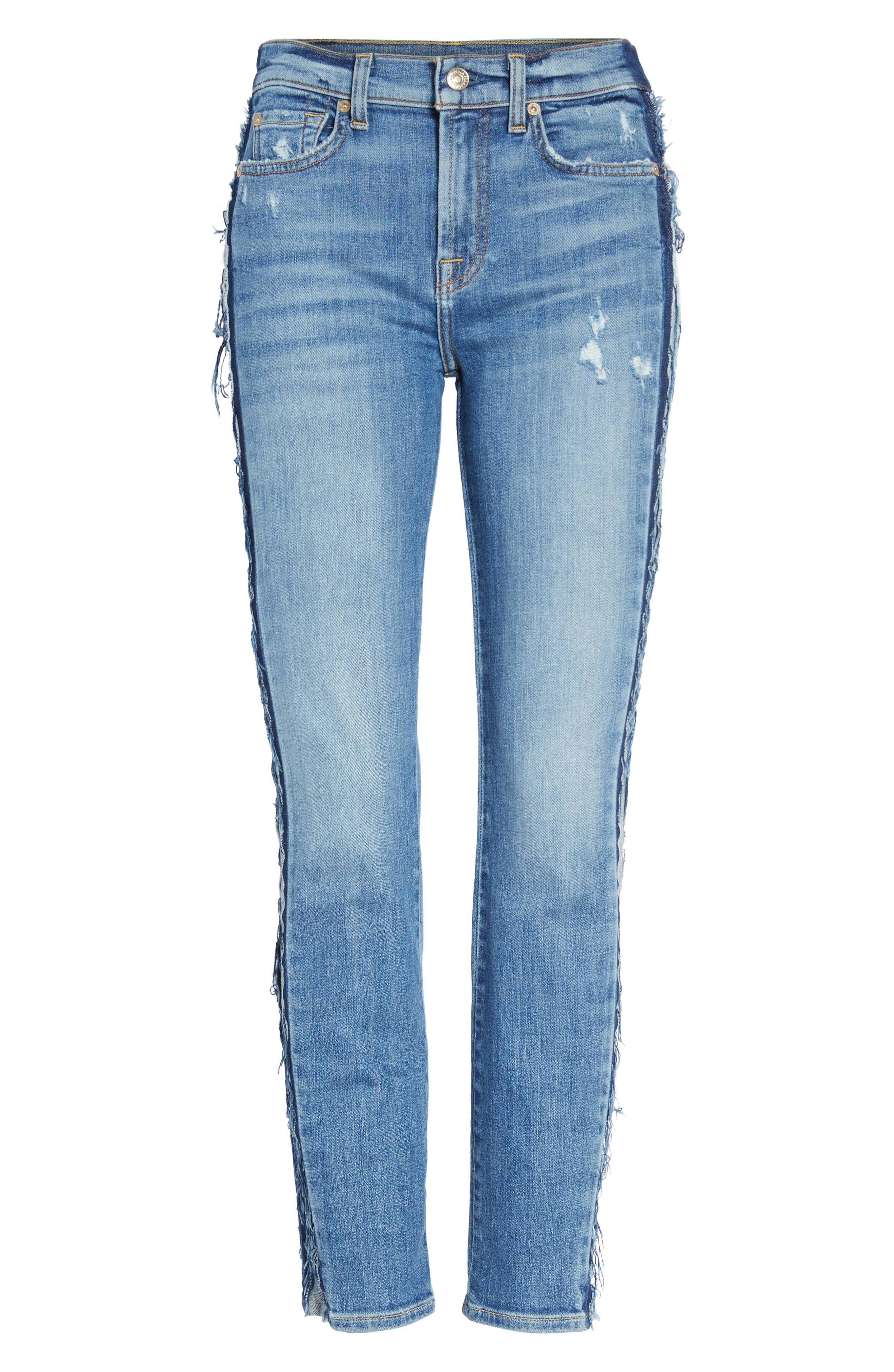 Alternate Image 6  - 7 For All Mankind® Roxanne Ankle Jeans (Bright Houston)