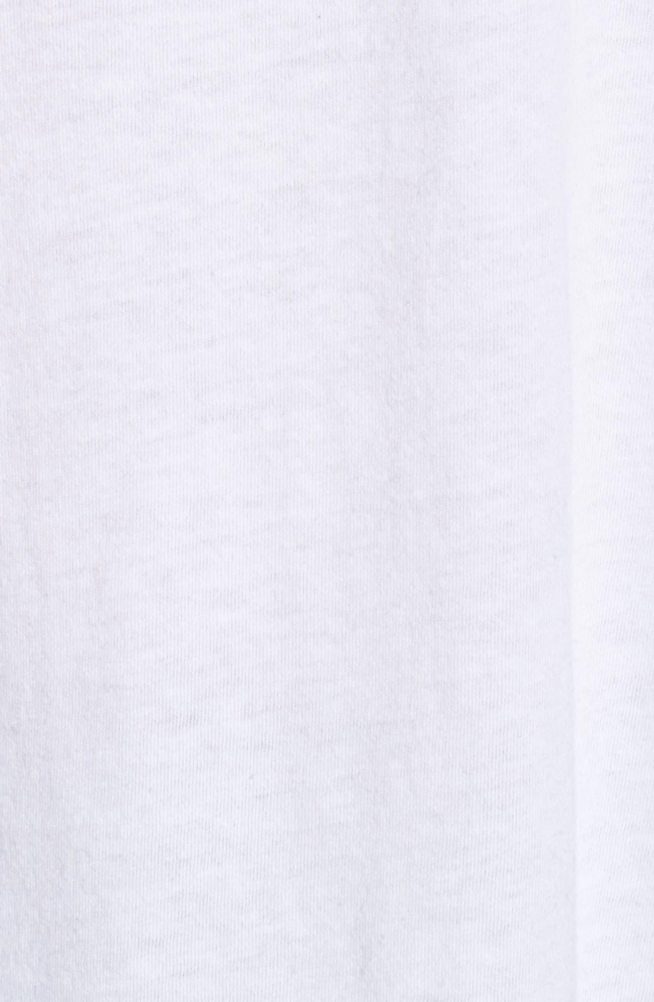 Bowie Raglan Tee,                             Alternate thumbnail 6, color,                             White Black