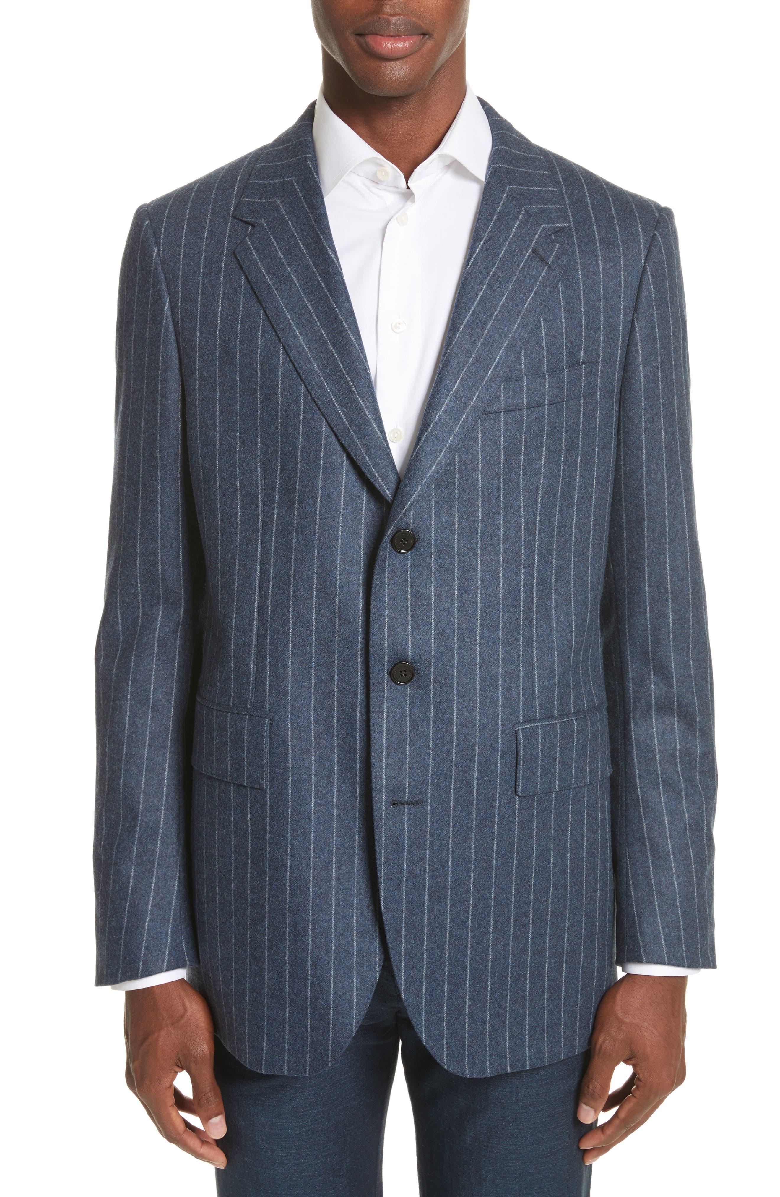 Trim Fit Wool Sport Coat,                         Main,                         color, Midnight Blue