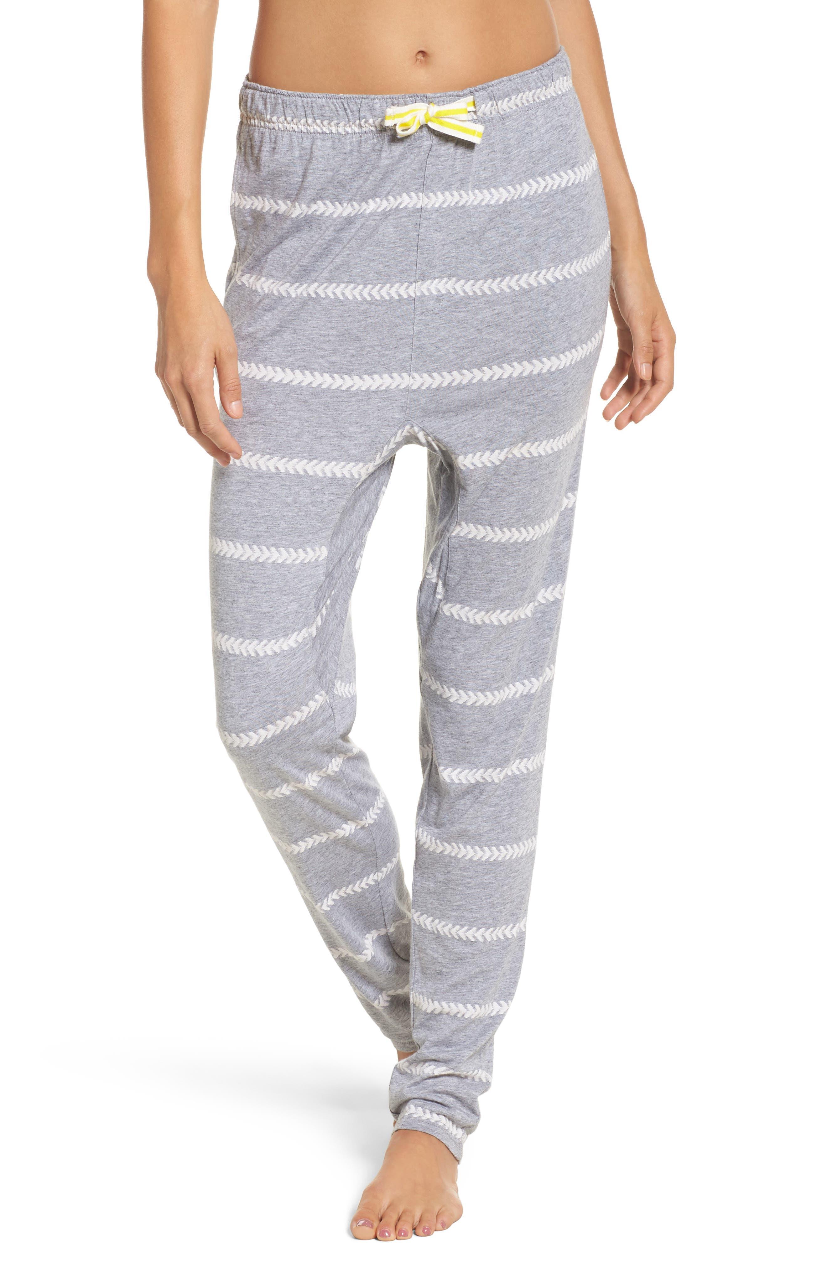 Alice Lounge Pants,                         Main,                         color, Chevron Stripe Grey