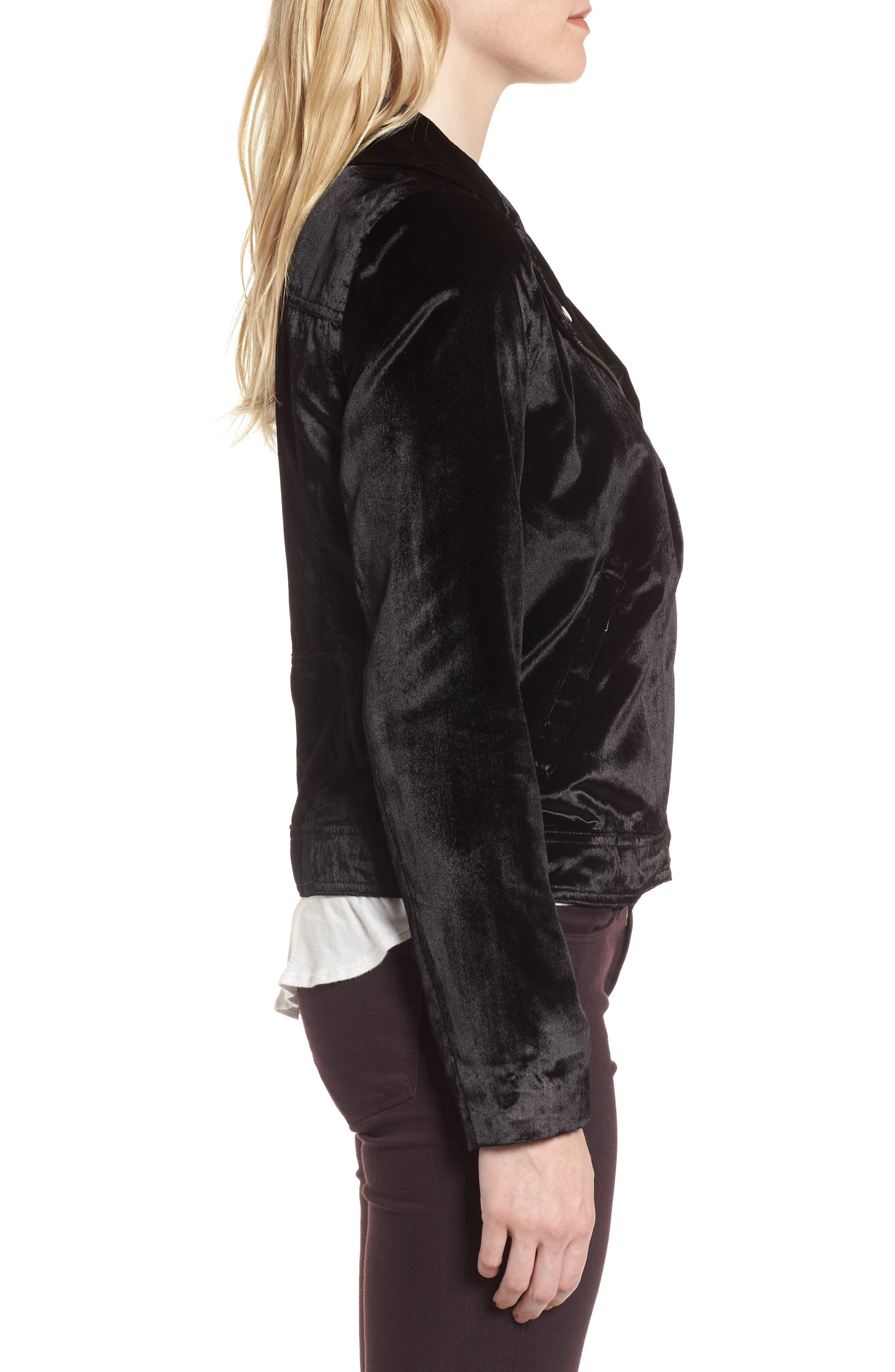Alternate Image 3  - Trouvé Velvet Moto Jacket