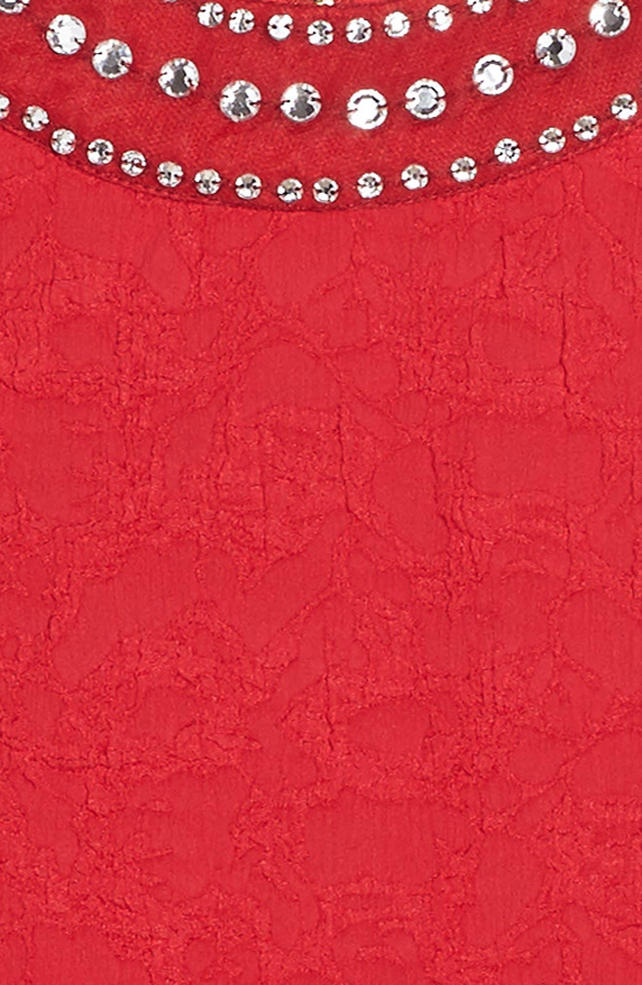 Alternate Image 3  - BLUSH by Us Angels Jewel Neck Fit & Flare Dress (Big Girls)