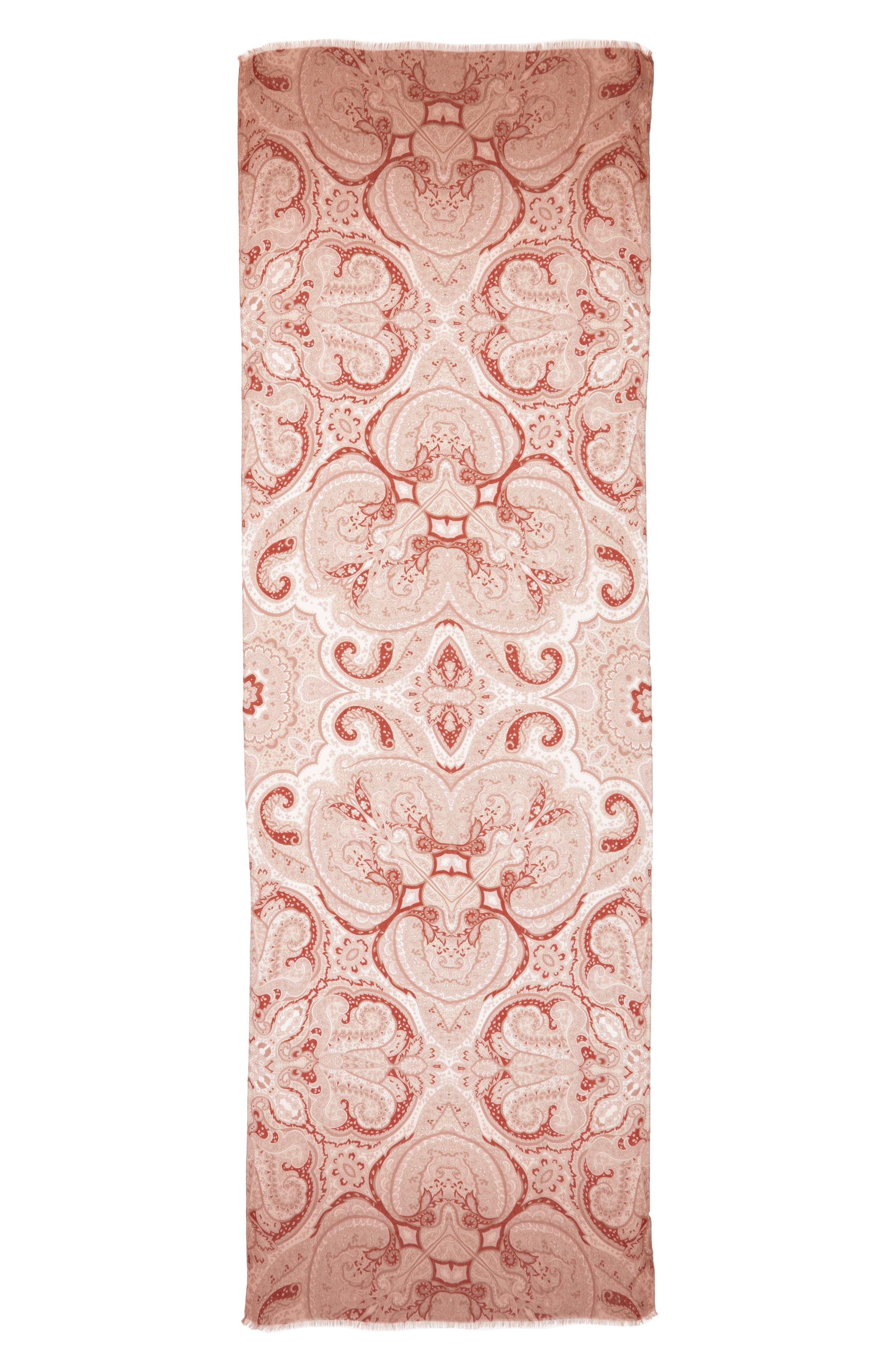 Max Mara Carella Paisley Print Modal & Cashmere Scarf