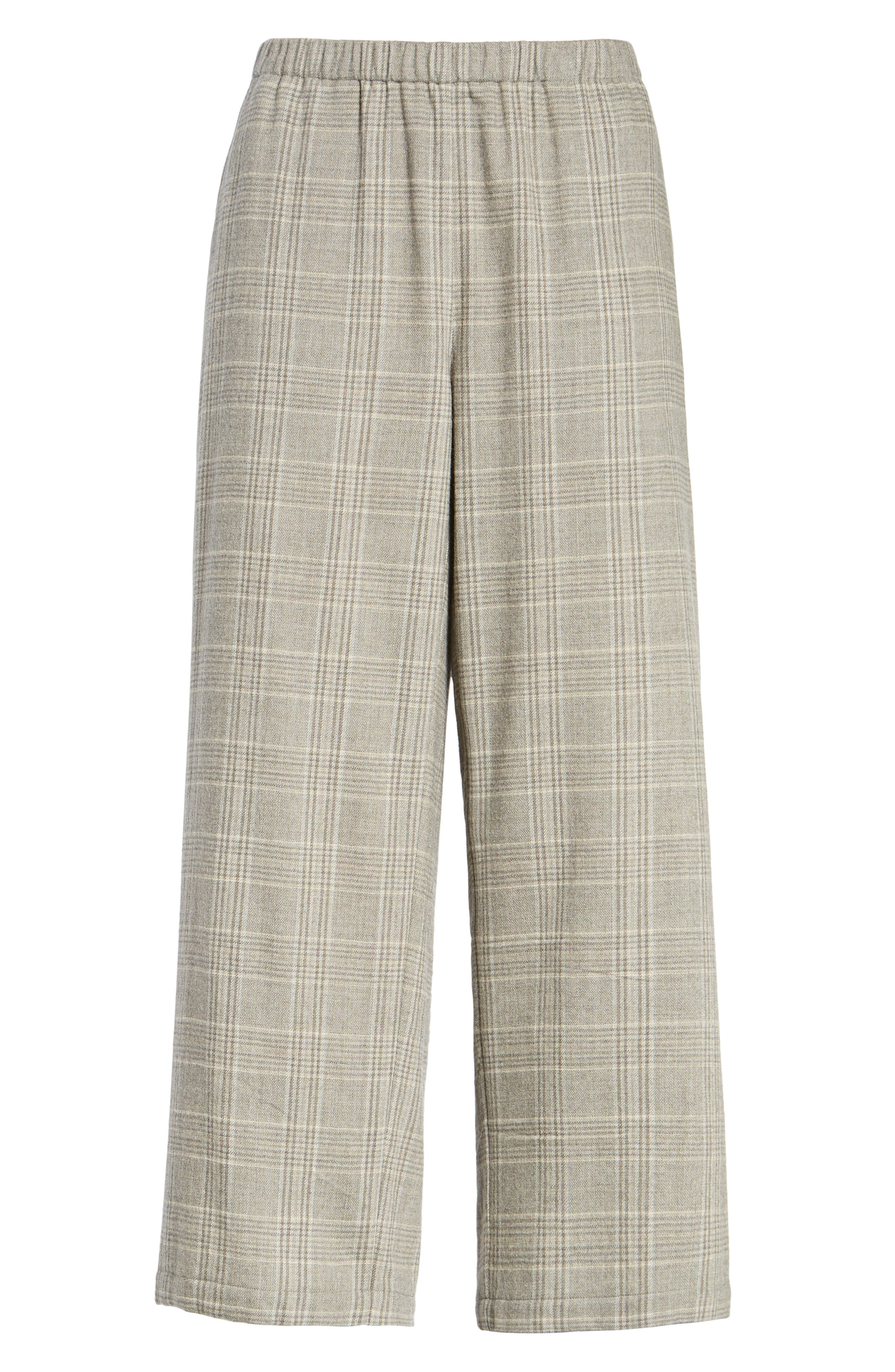 Alternate Image 6  - Eileen Fisher Plaid Wide Leg Crop Pants