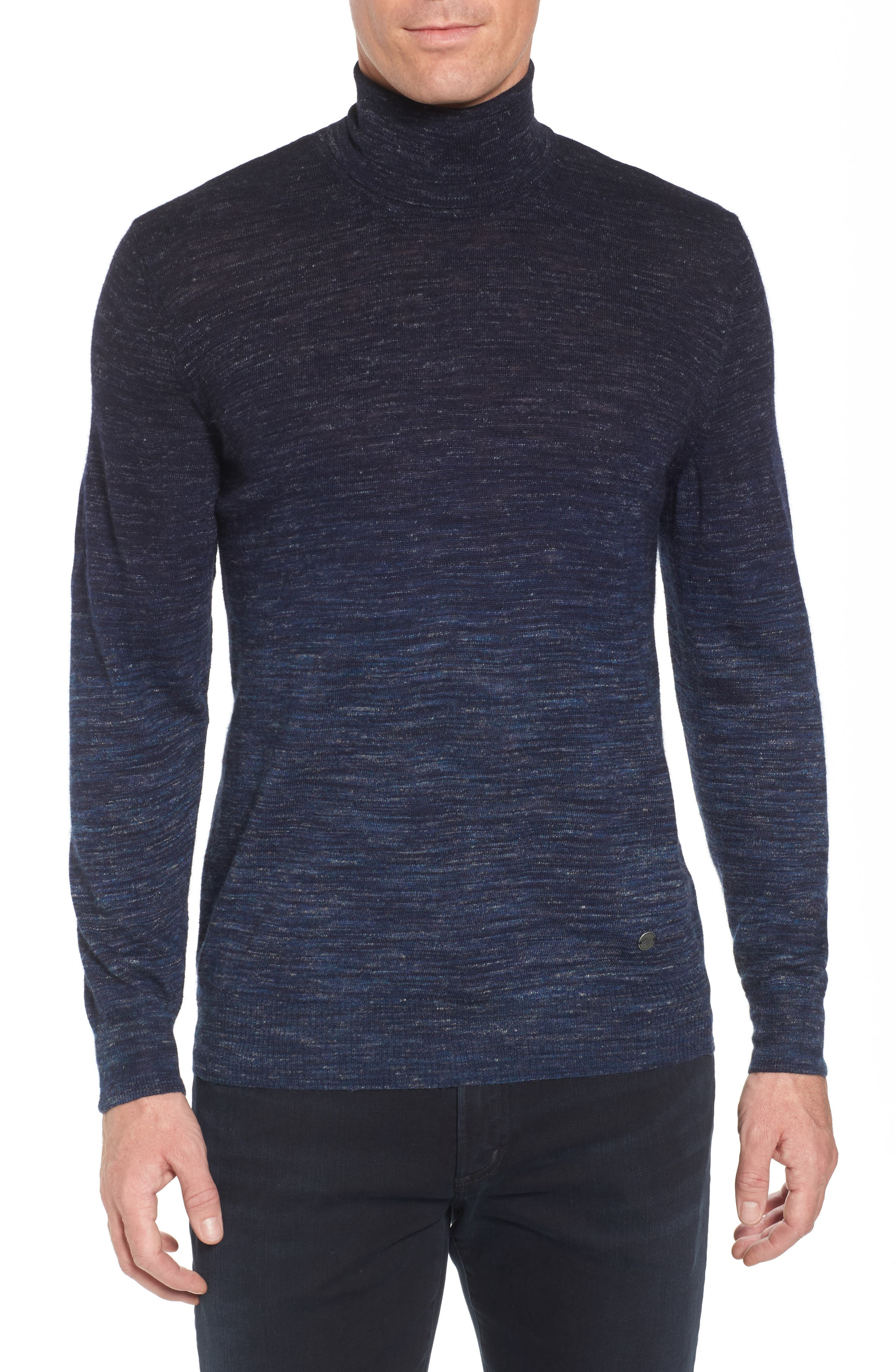 Stone Rose Regular Fit Dip Dye Turtleneck