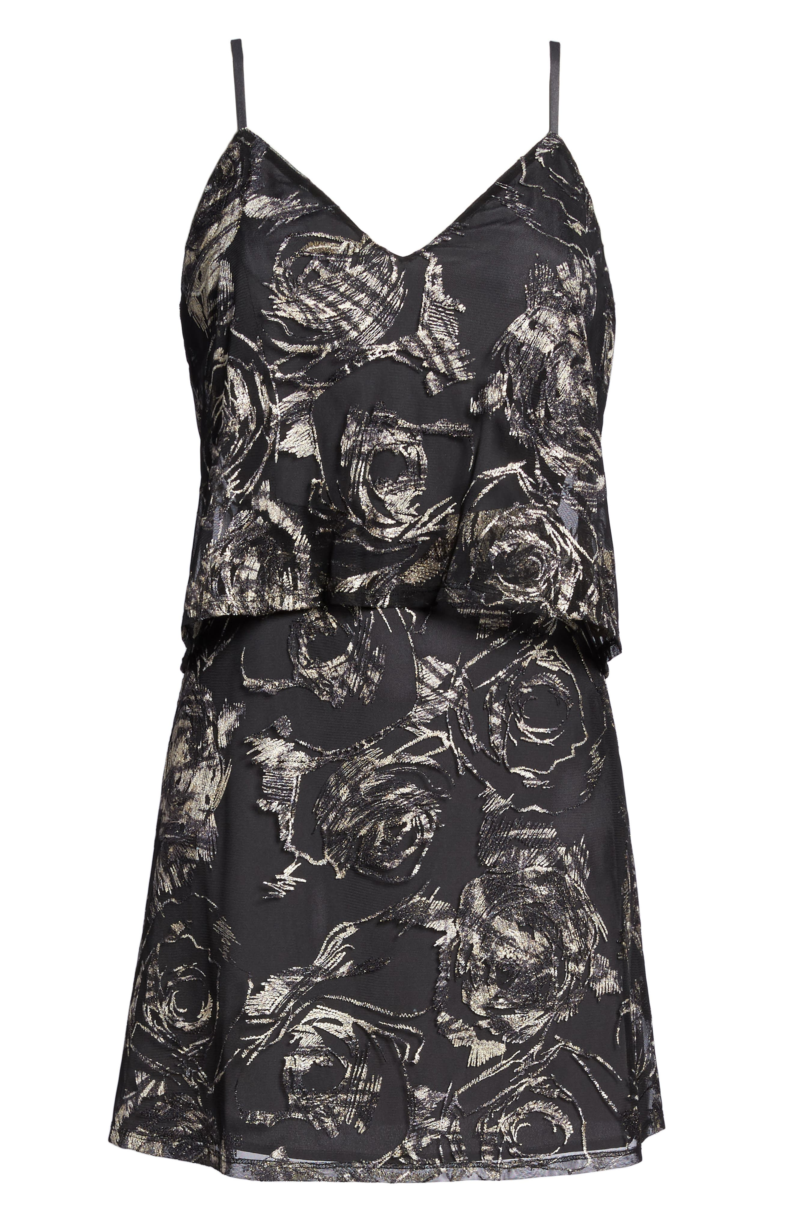 Inoubliable Minidress,                             Alternate thumbnail 7, color,                             Moody Embroidery