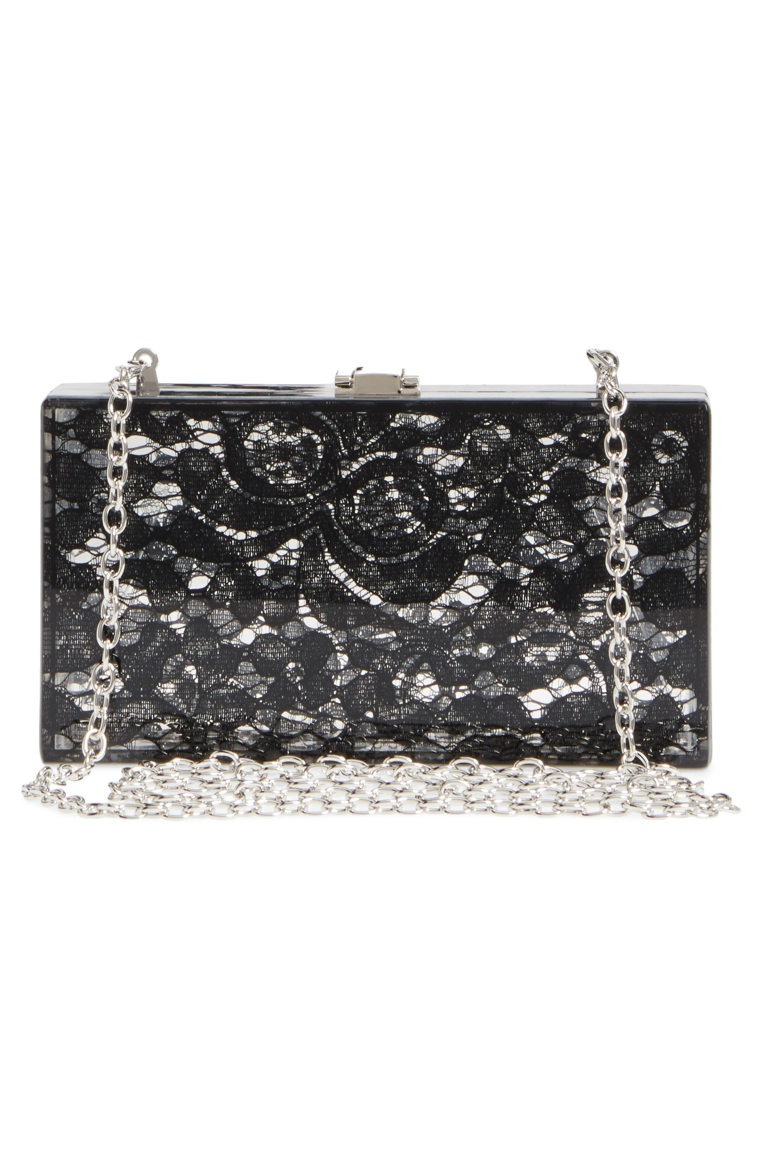 Alternate Image 4  - Nordstrom Transparent Lace Box Clutch