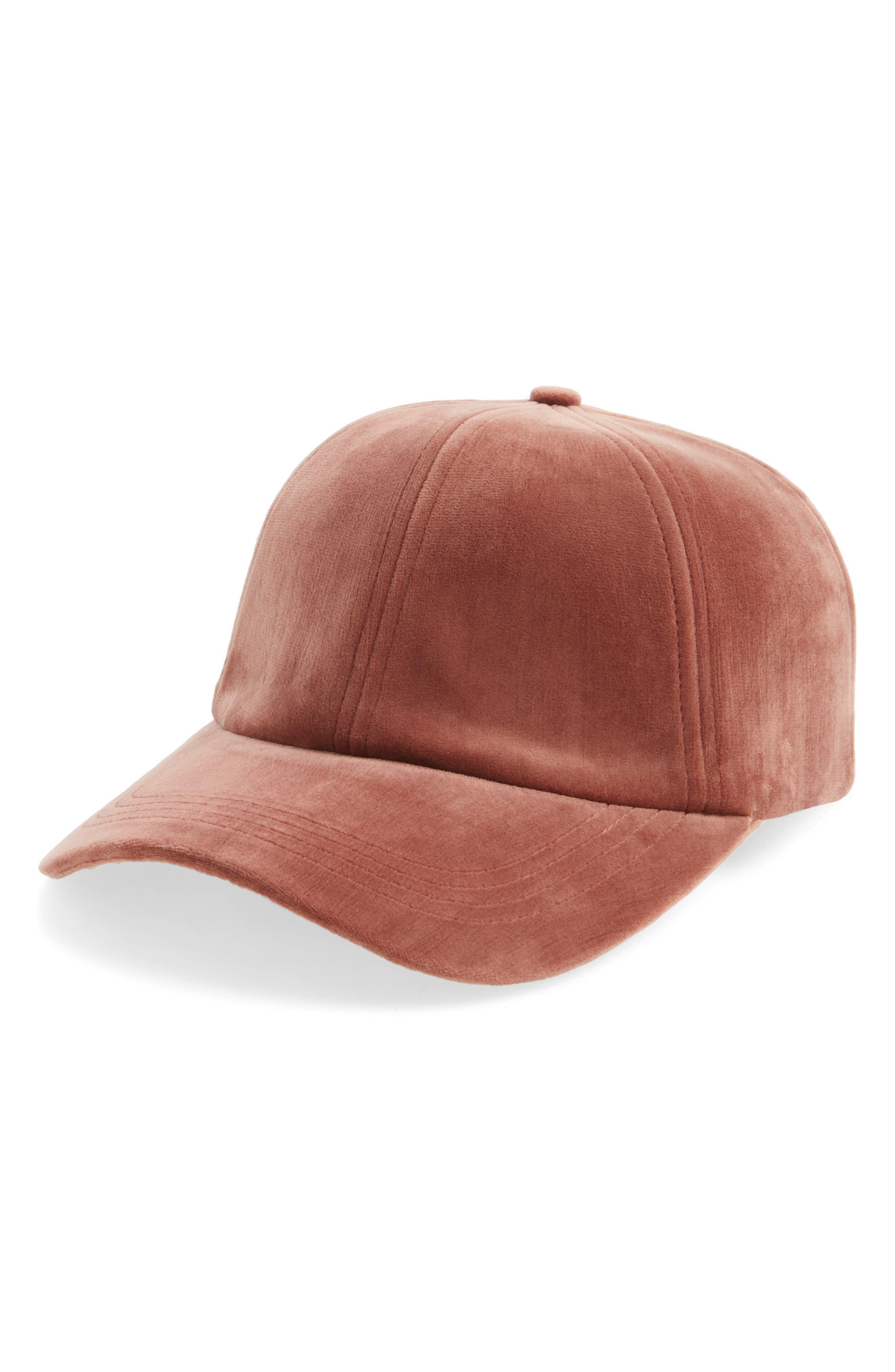 Main Image - Sole Society Velvet Baseball Cap