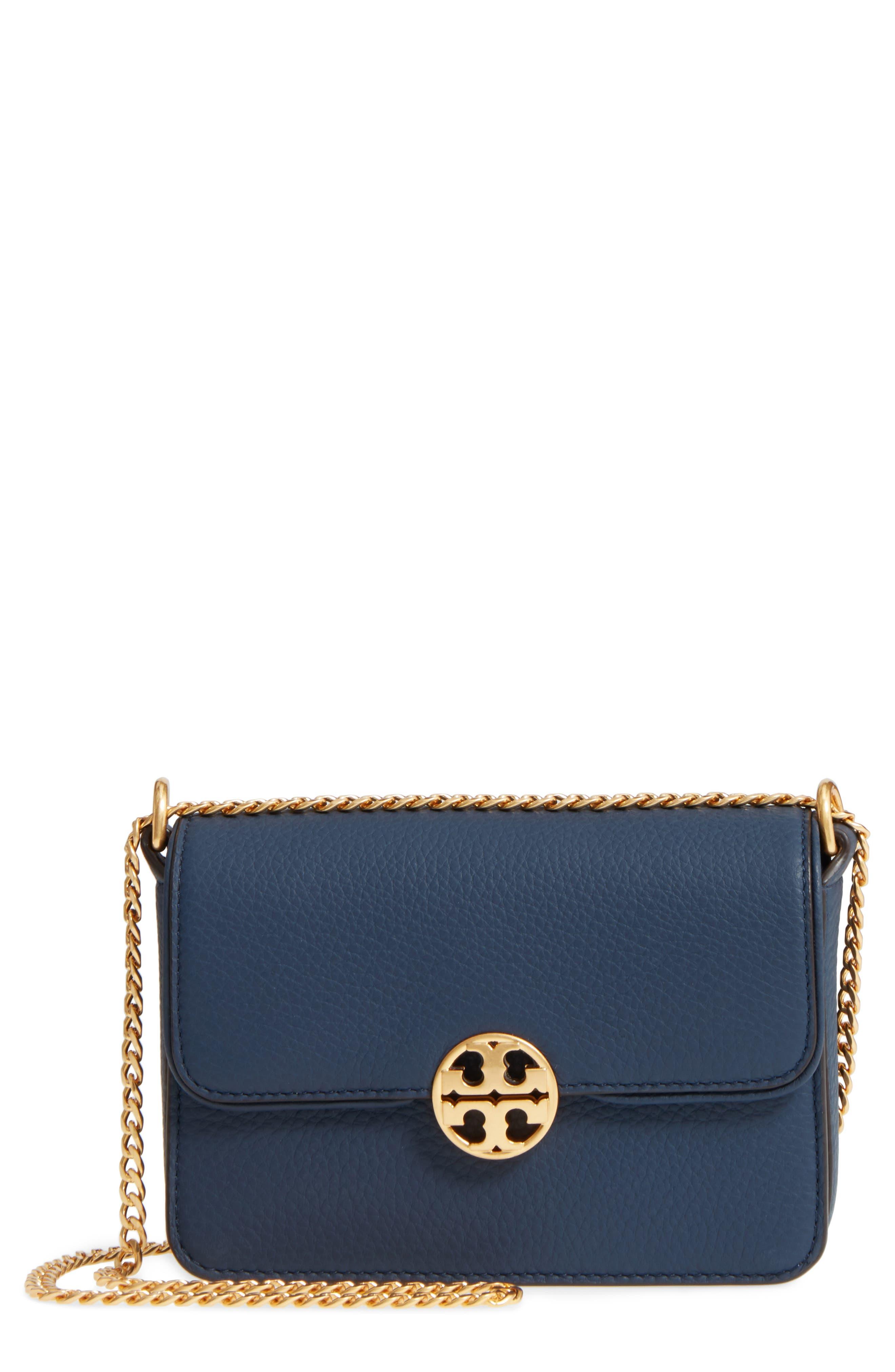 Tory Burch Mini Chelsea Leather Convertible Crossbody Bag