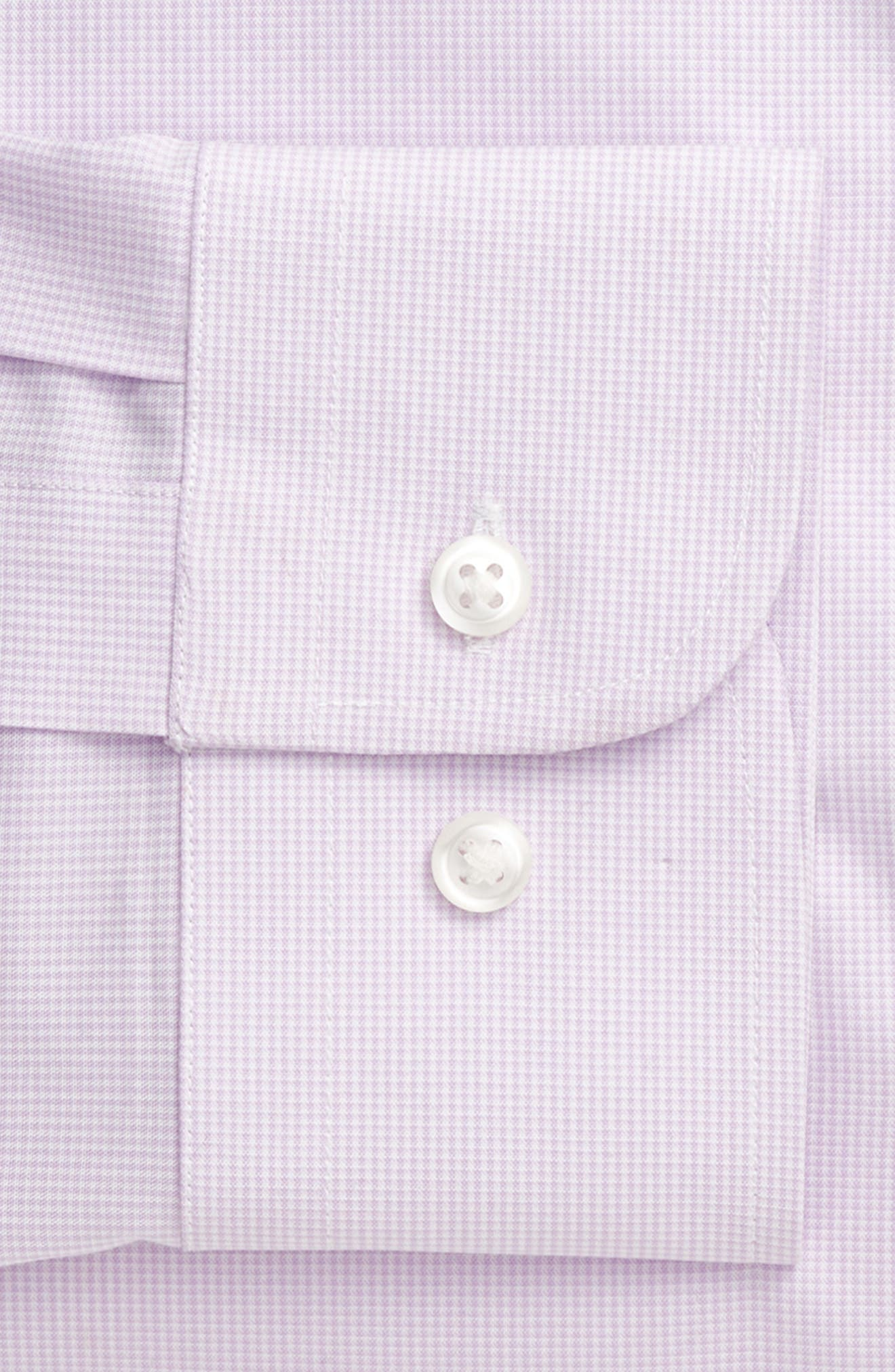 Tech-Smart Traditional Fit Stretch Microdot Dress Shirt,                             Alternate thumbnail 5, color,                             Purple Bloom