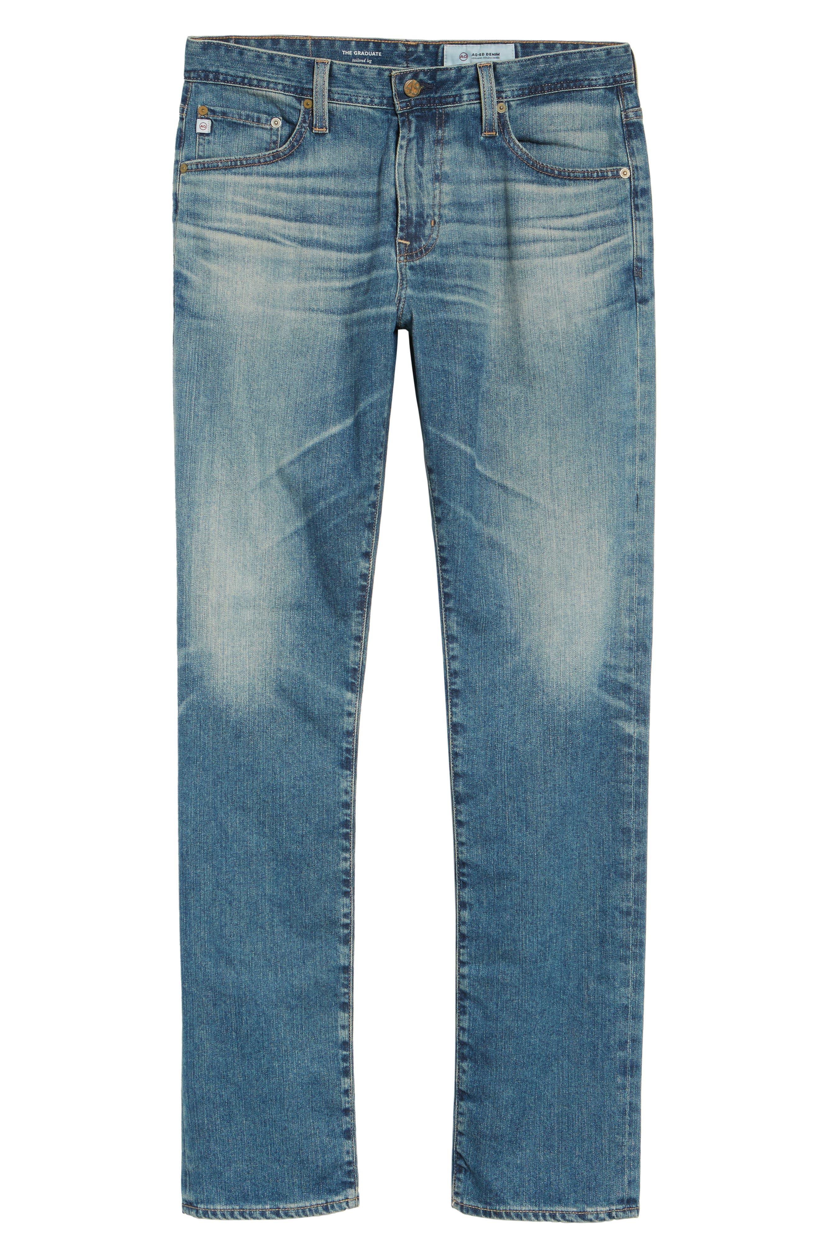 Graduate Slim Straight Leg Jeans,                             Alternate thumbnail 6, color,                             14 Years Century
