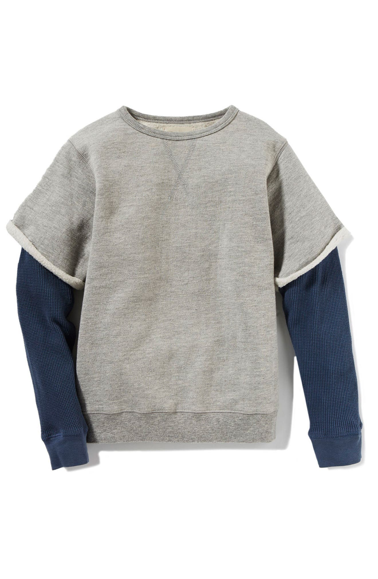 Axel Layer Sweatshirt,                             Main thumbnail 1, color,                             Heather Grey