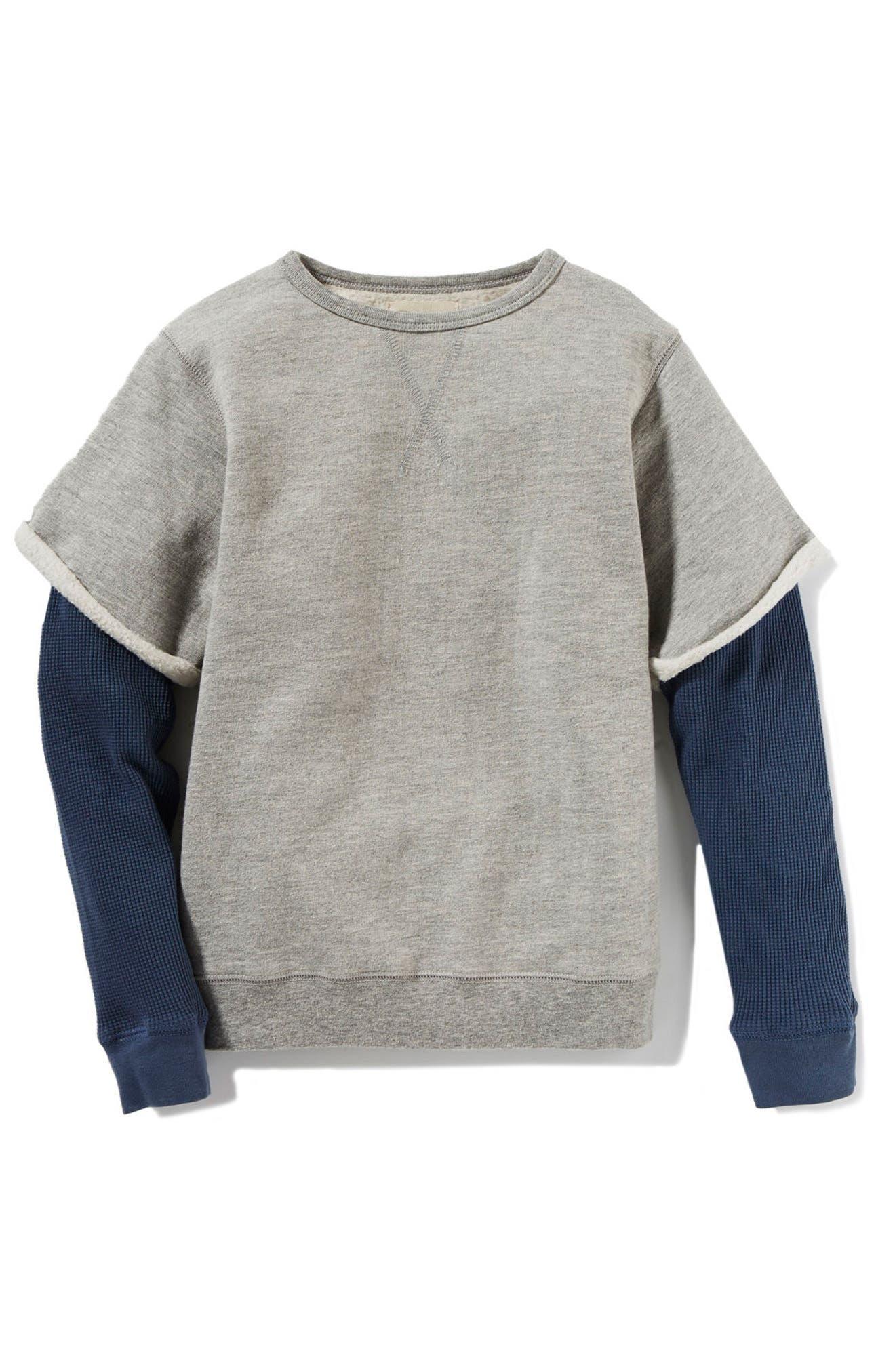 Axel Layer Sweatshirt,                         Main,                         color, Heather Grey