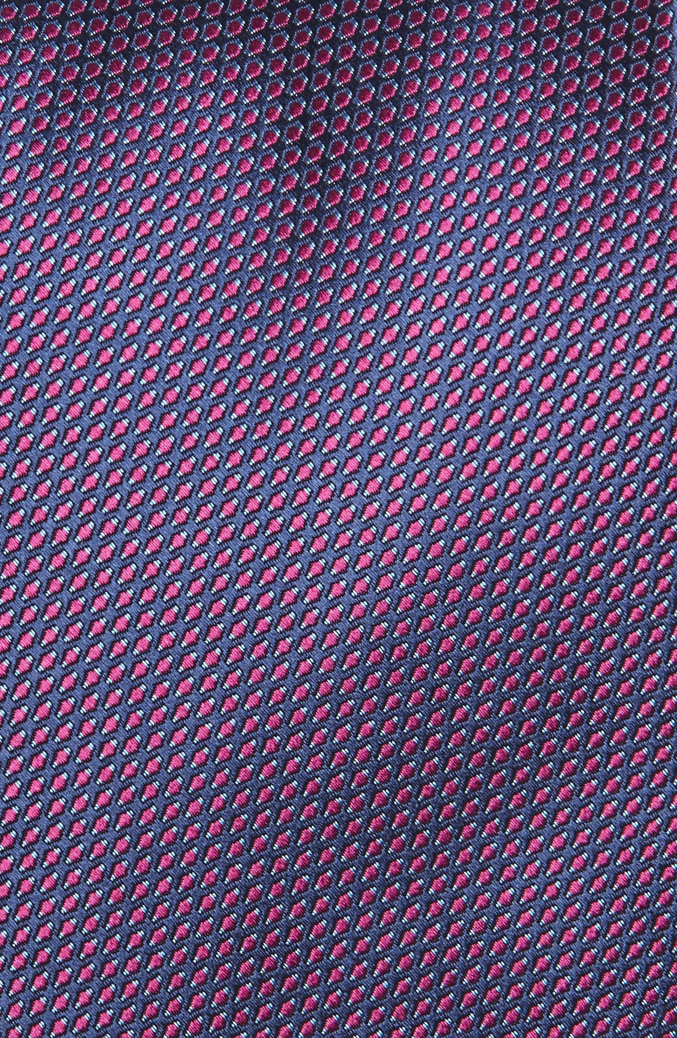 Solid Silk Tie,                             Alternate thumbnail 2, color,                             Berry