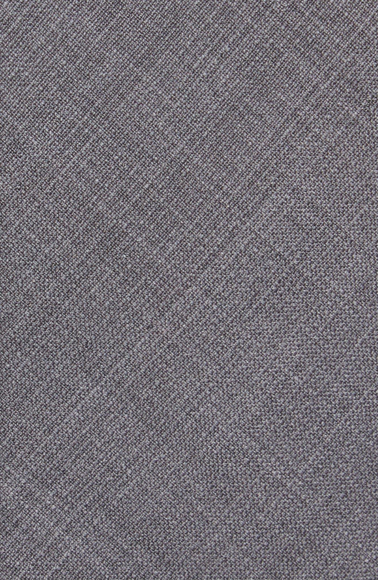 Solid Wool Skinny Tie,                             Alternate thumbnail 2, color,                             Grey
