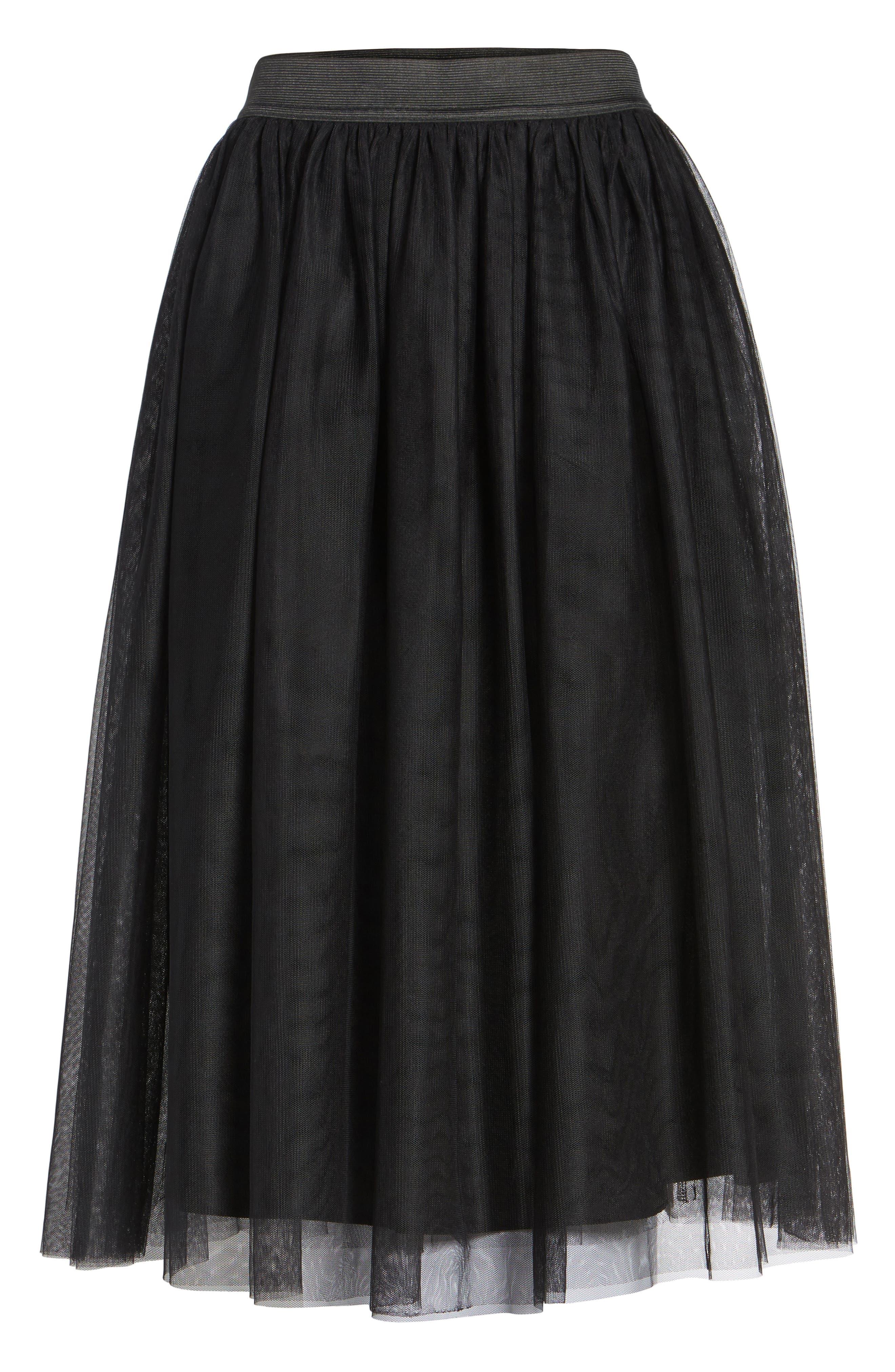 Alternate Image 6  - Halogen® Tulle Midi Skirt (Regular & Petite)