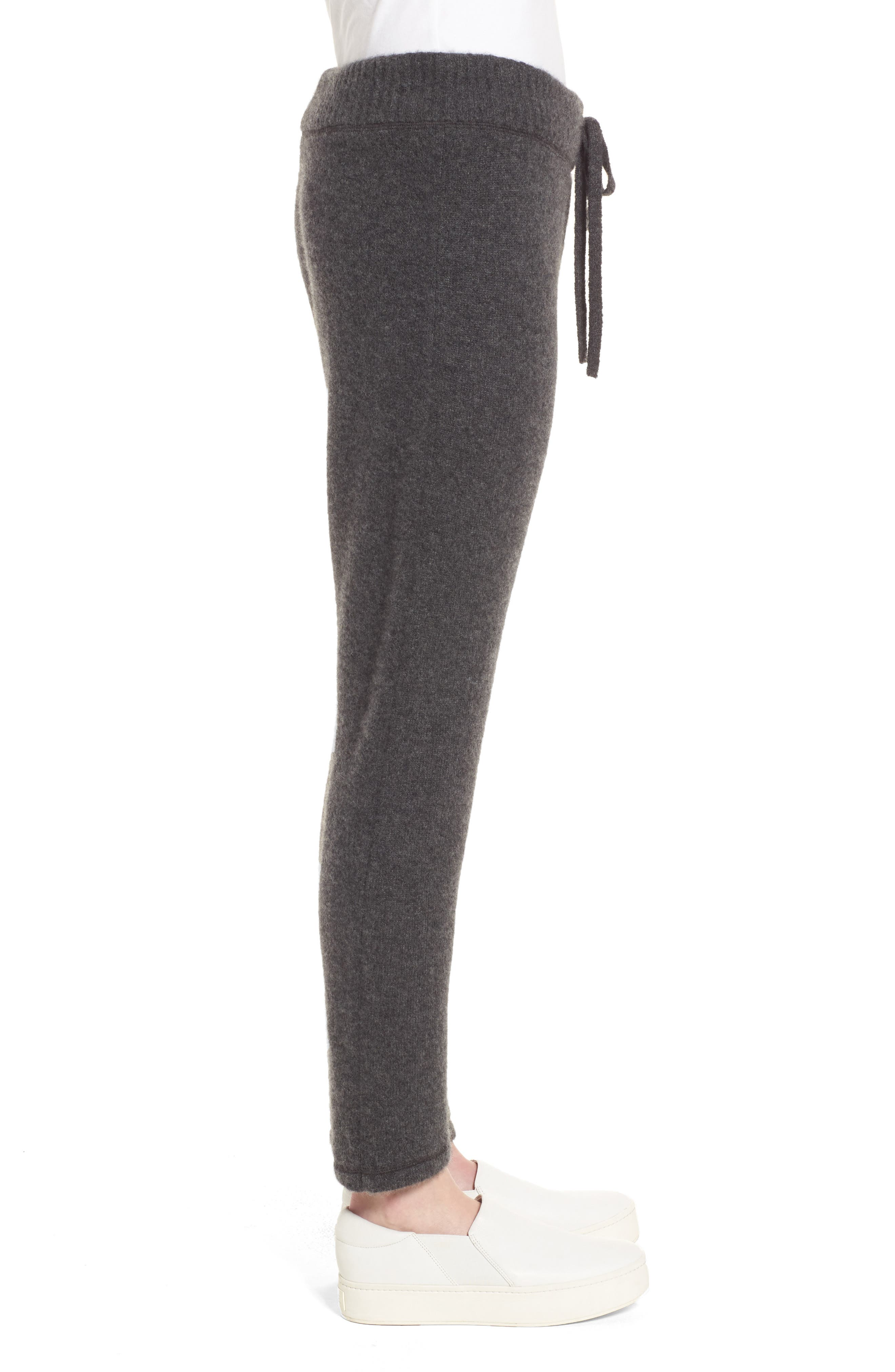 Brushed Cashmere Sweatpants,                             Alternate thumbnail 3, color,                             Charcoal