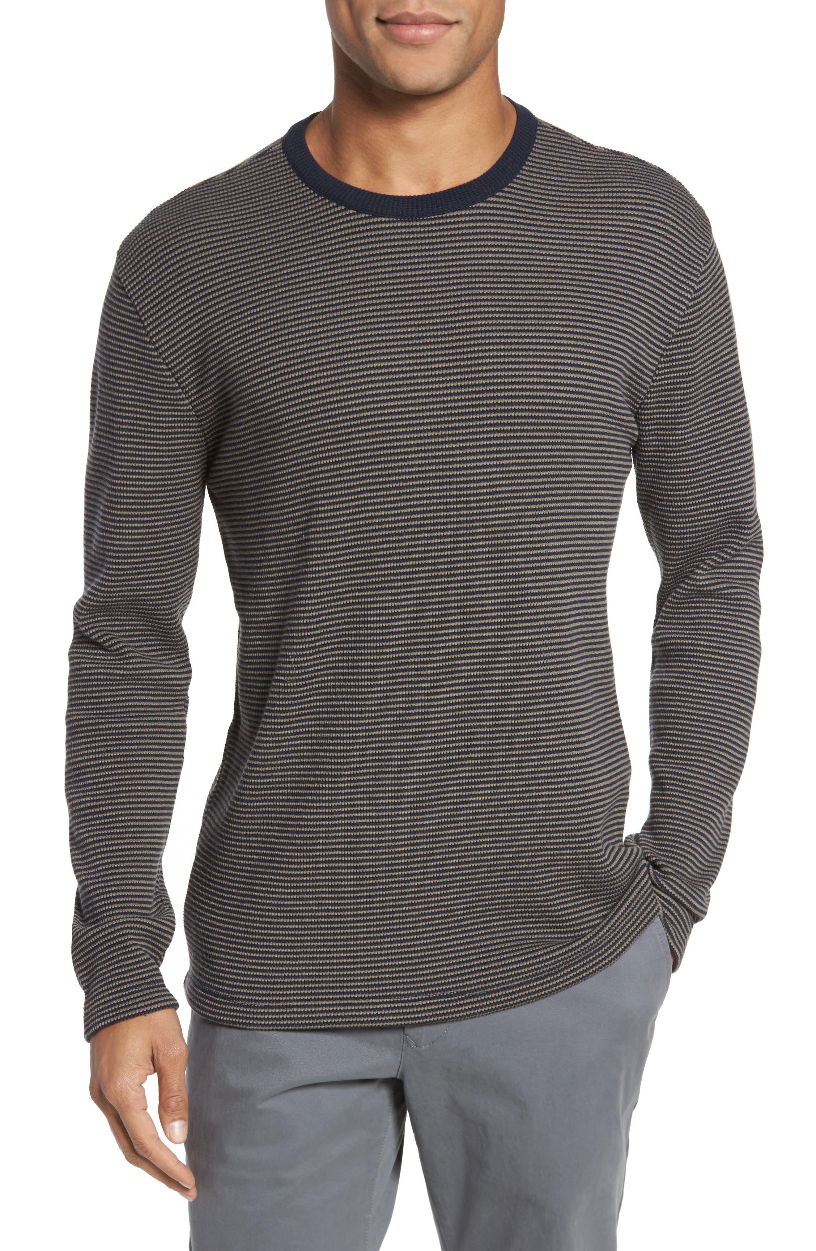 Slim Fit Waffle Knit T-Shirt,                             Main thumbnail 1, color,                             Oak/ Stormy Night