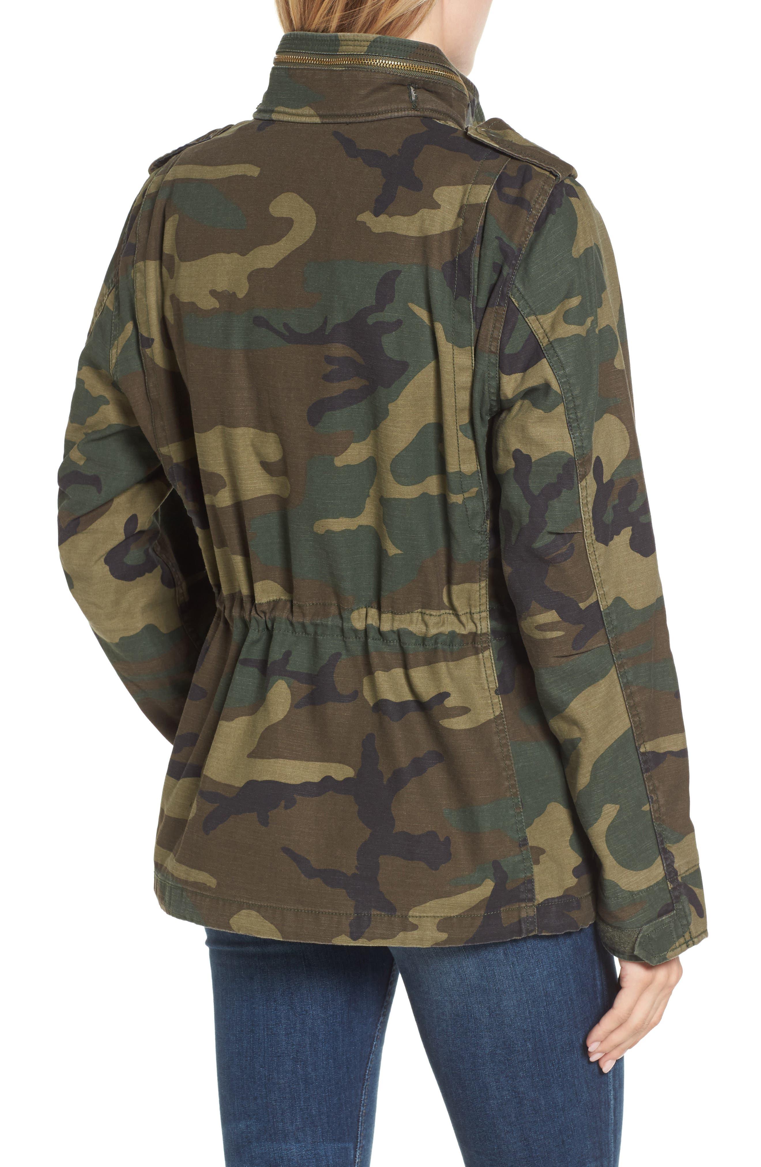 M-65 Defender Camo Field Jacket,                             Alternate thumbnail 2, color,                             Woodland Camo