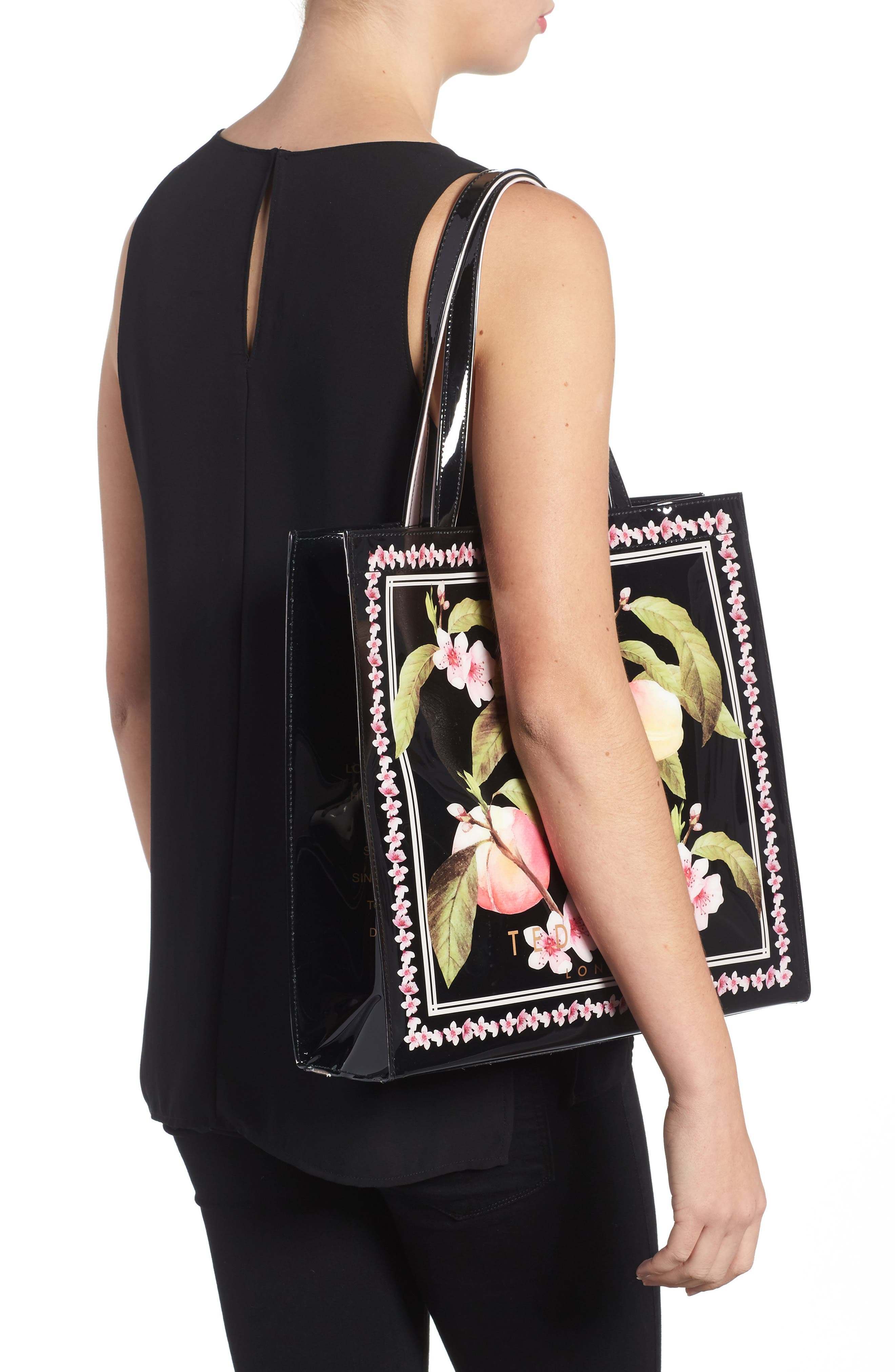 Alternate Image 2  - Ted Baker London Large Icon - Macon Peach Blossom Tote