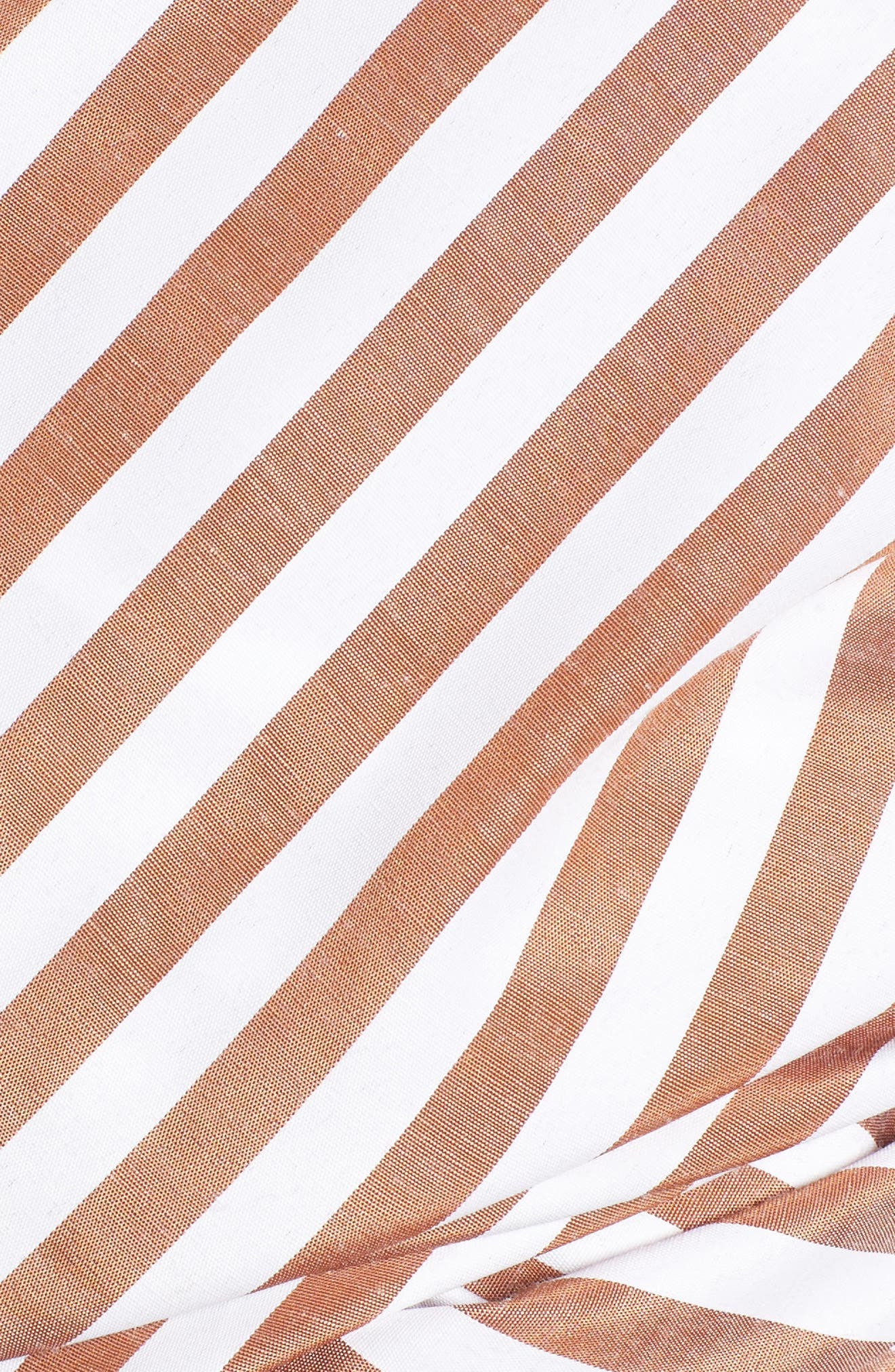 Wrap Me in Love One-Shoulder Top,                             Alternate thumbnail 5, color,                             Striped Brown