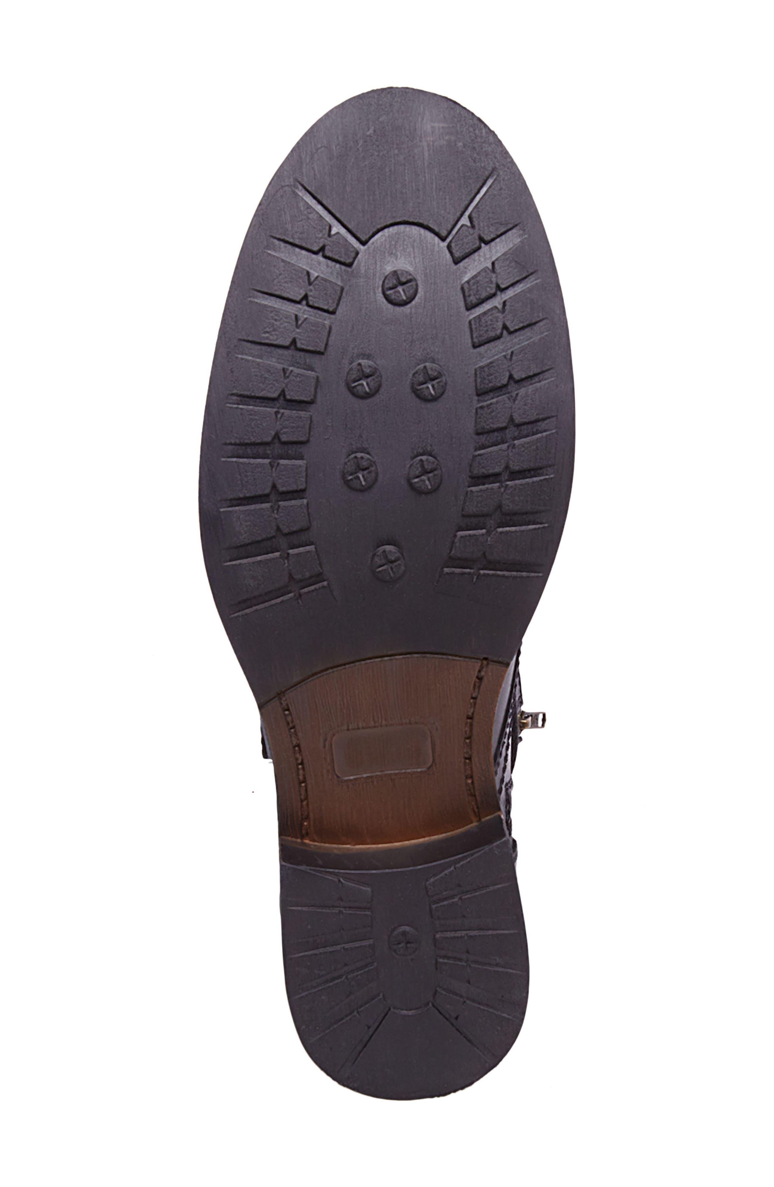 Troopah-C Cap Toe Boot,                             Alternate thumbnail 6, color,                             Black Leather