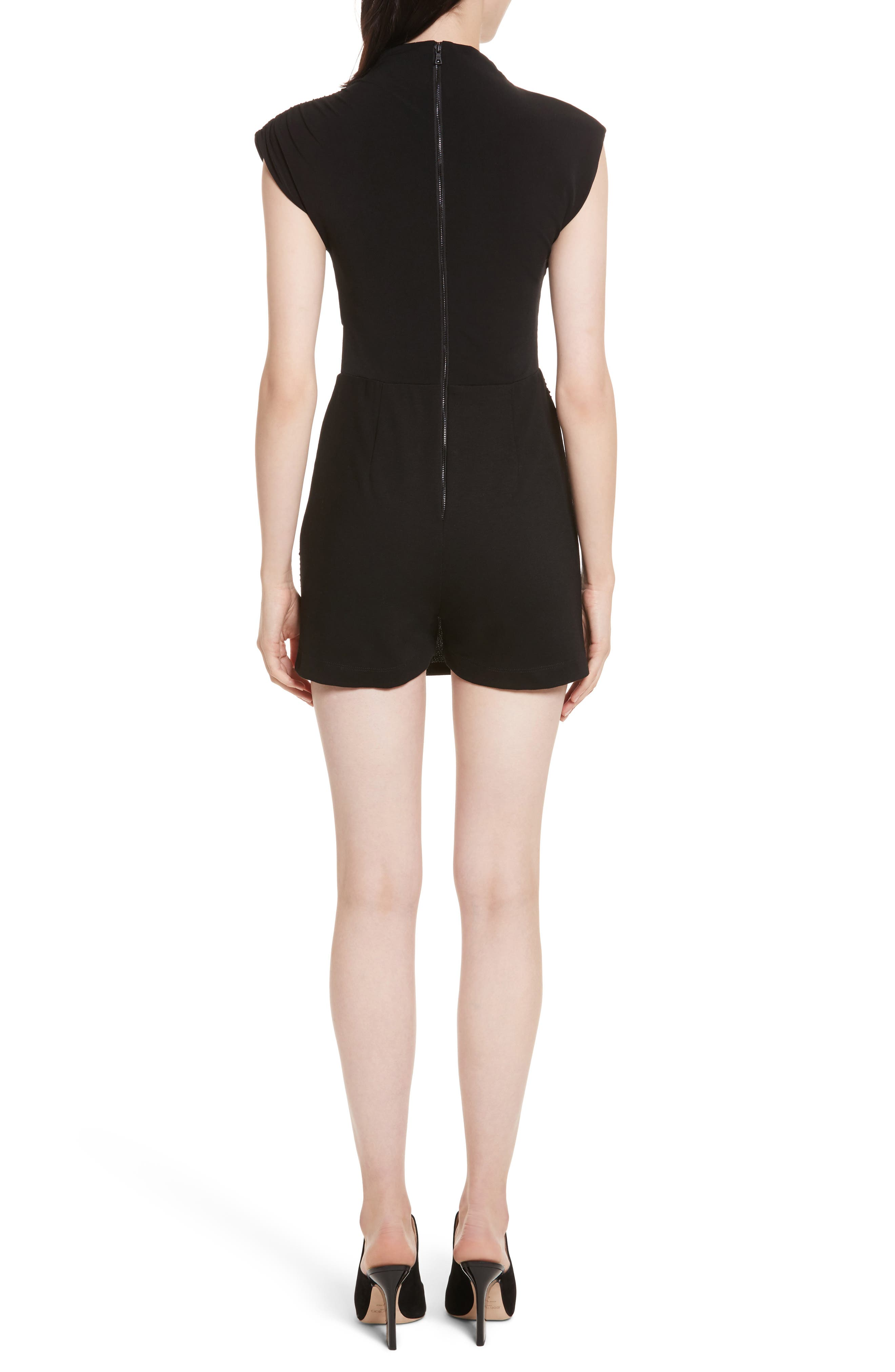 Alternate Image 2  - Alice + Olivia Suellen Draped Romper