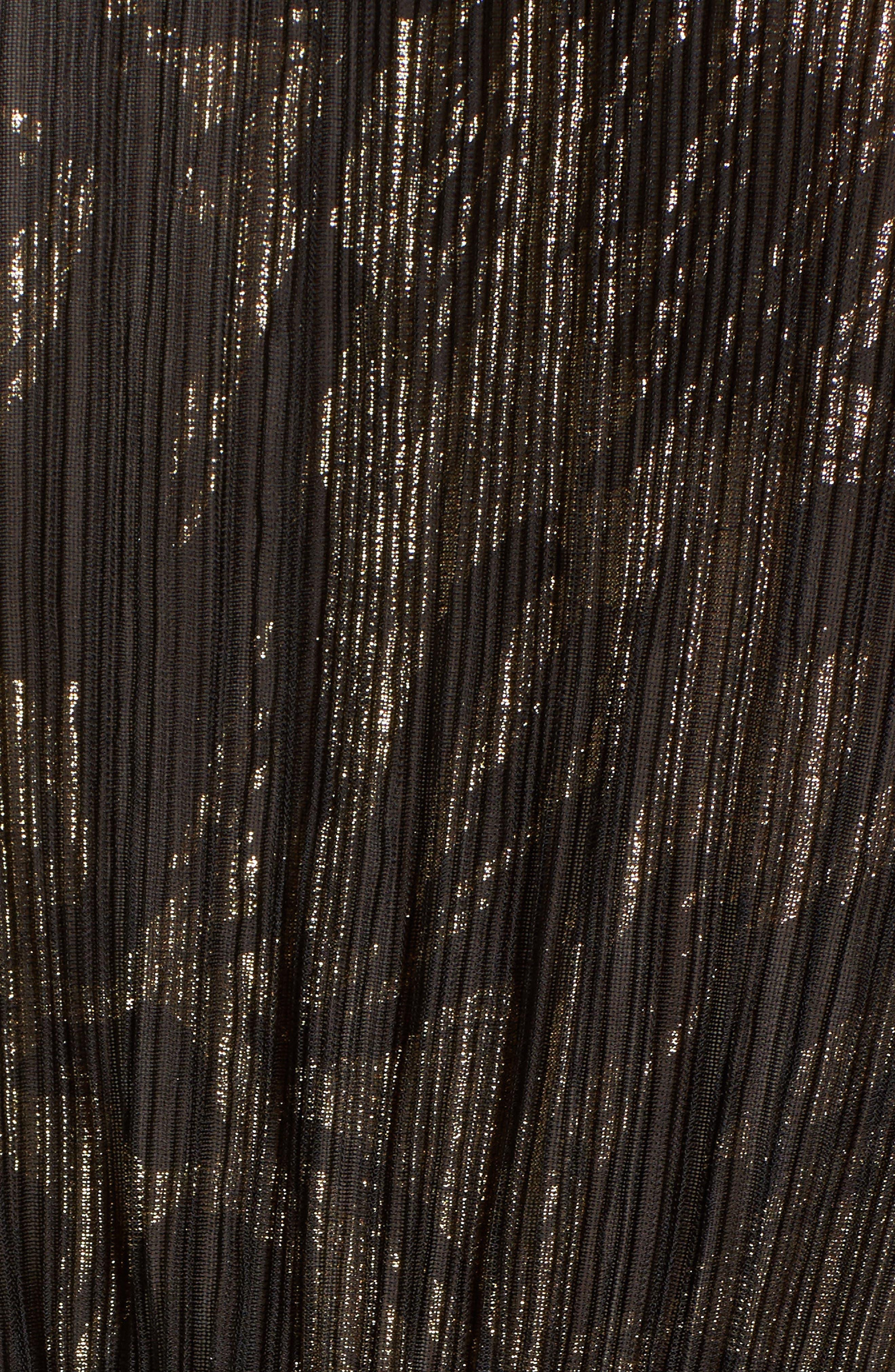 Alternate Image 5  - Hinge Foil Print Smocked Top