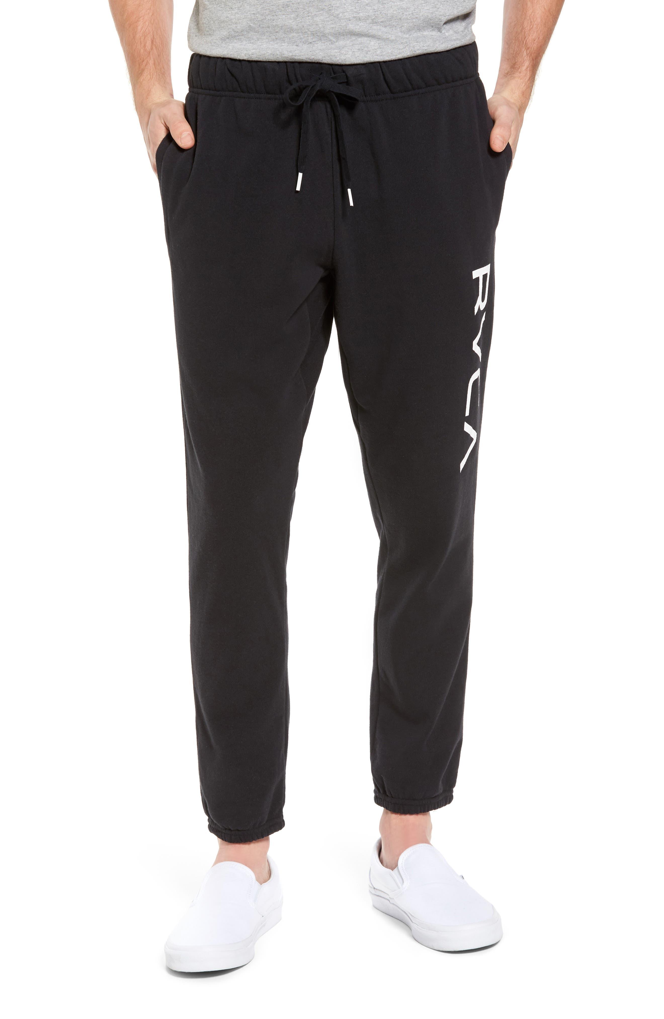 Big Logo Sweatpants,                         Main,                         color, Black