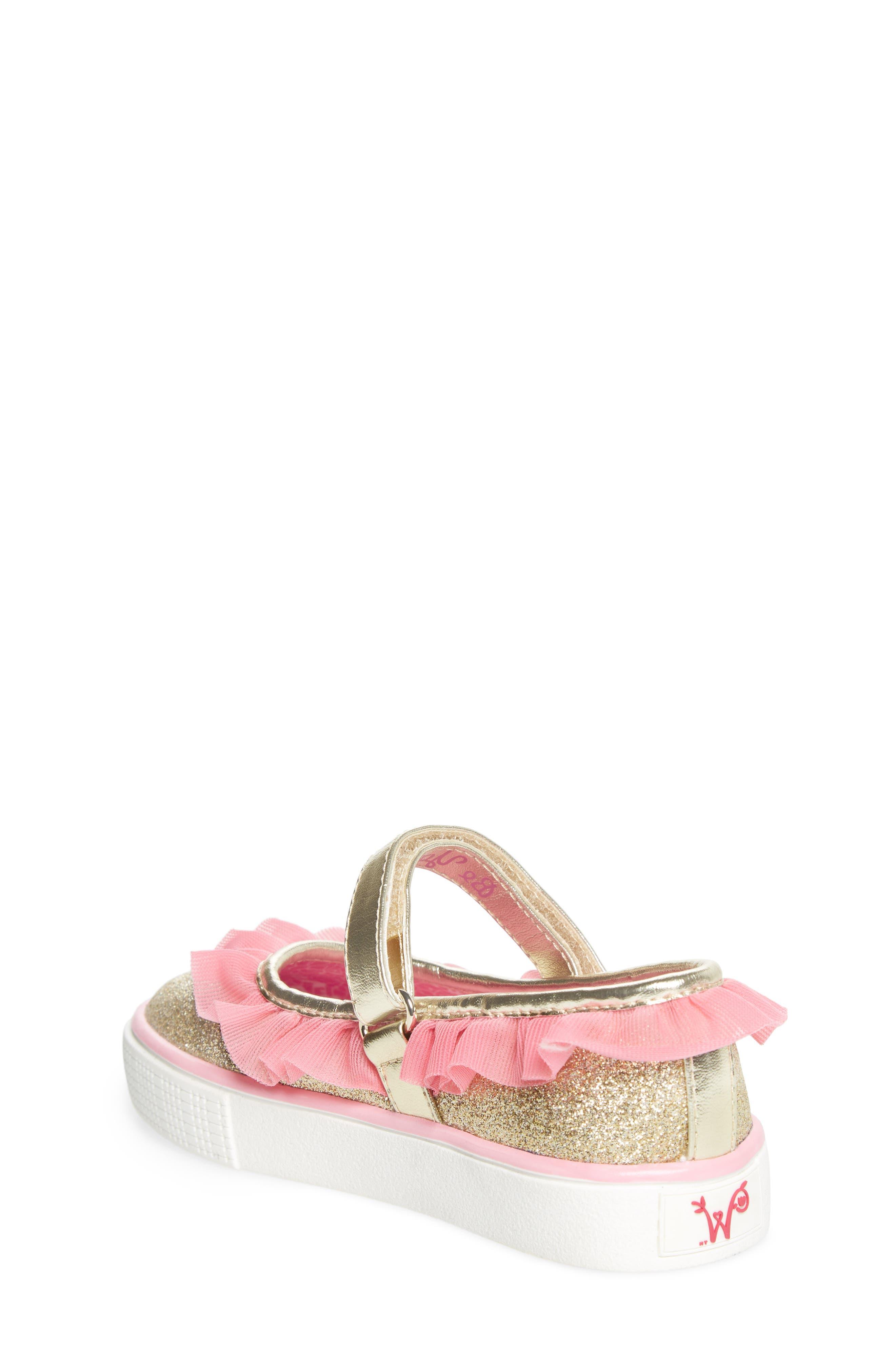 Ashlyn Tulle Mary Jane Sneaker,                             Alternate thumbnail 2, color,                             Gold