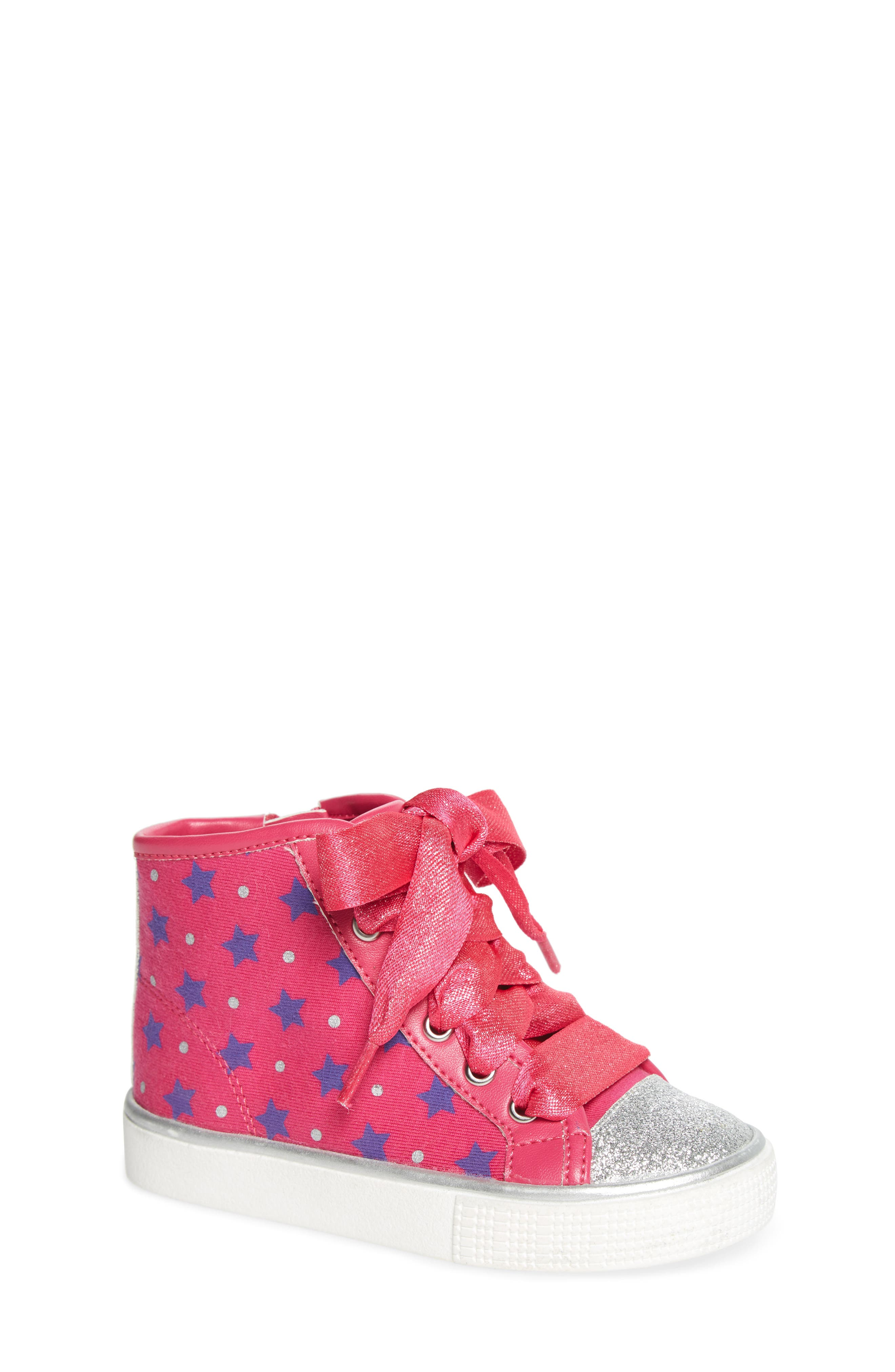 Emerson High Top Sneaker,                             Main thumbnail 1, color,                             Pink/ Purple