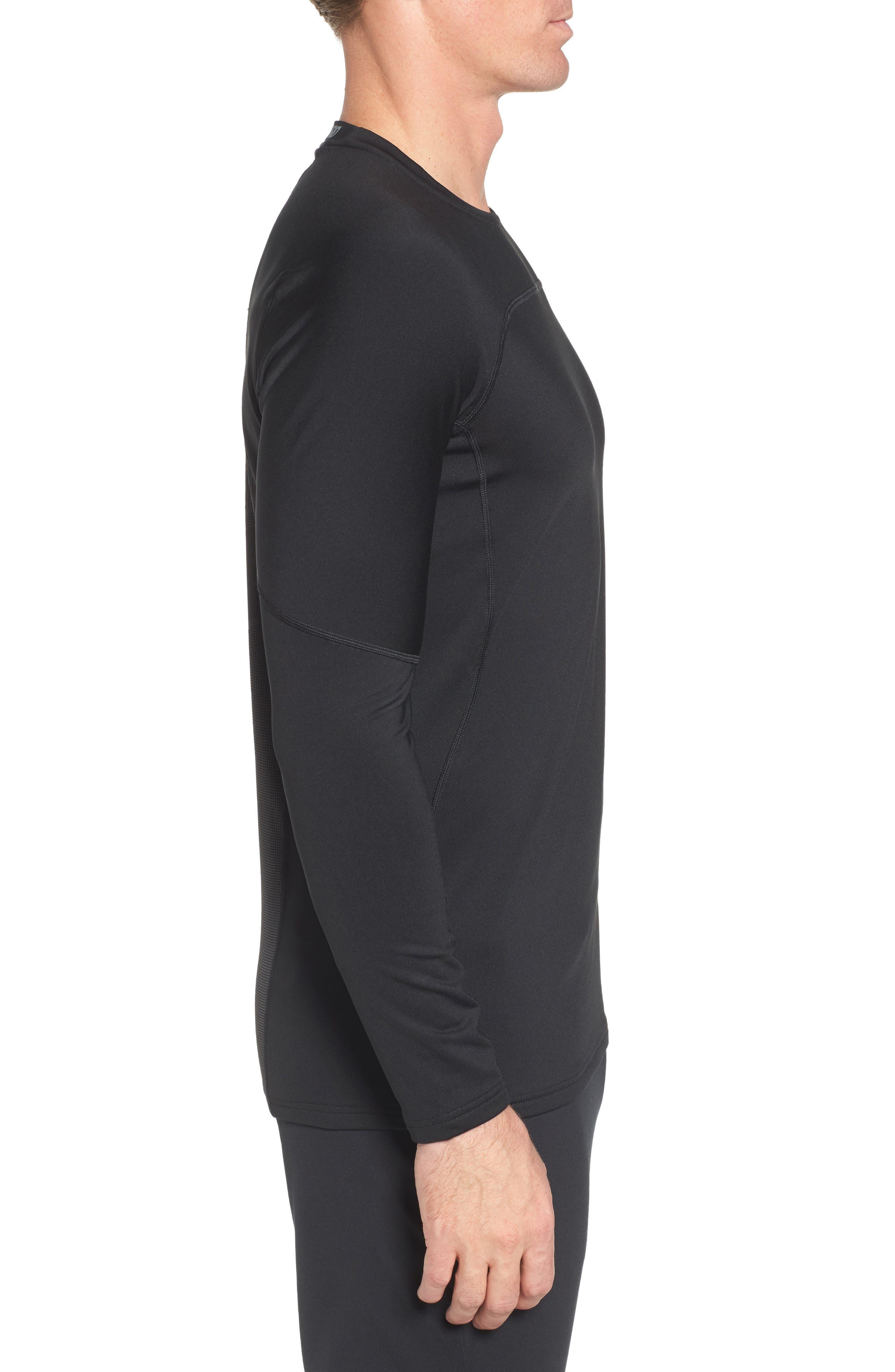 Pro Long Sleeve Training T-Shirt,                             Alternate thumbnail 3, color,                             Black/ Cool Grey/ Cool Grey